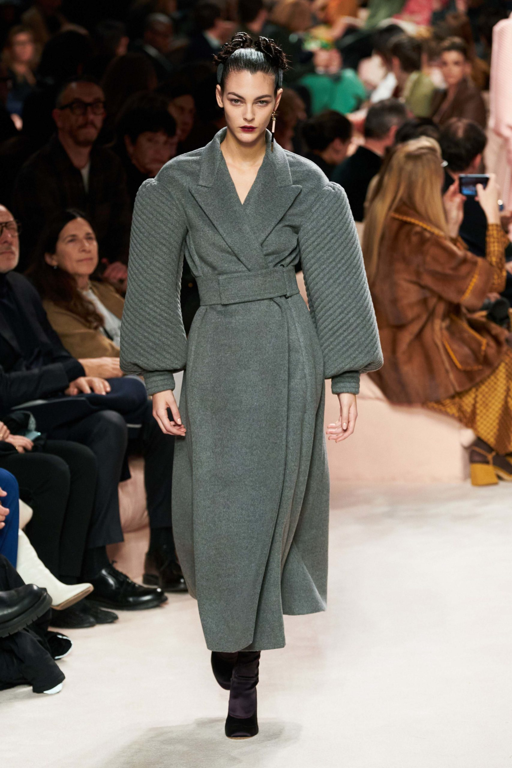 Fendi Fall 2020 trends runway report Ready To Wear Vogue look bold sleeves_
