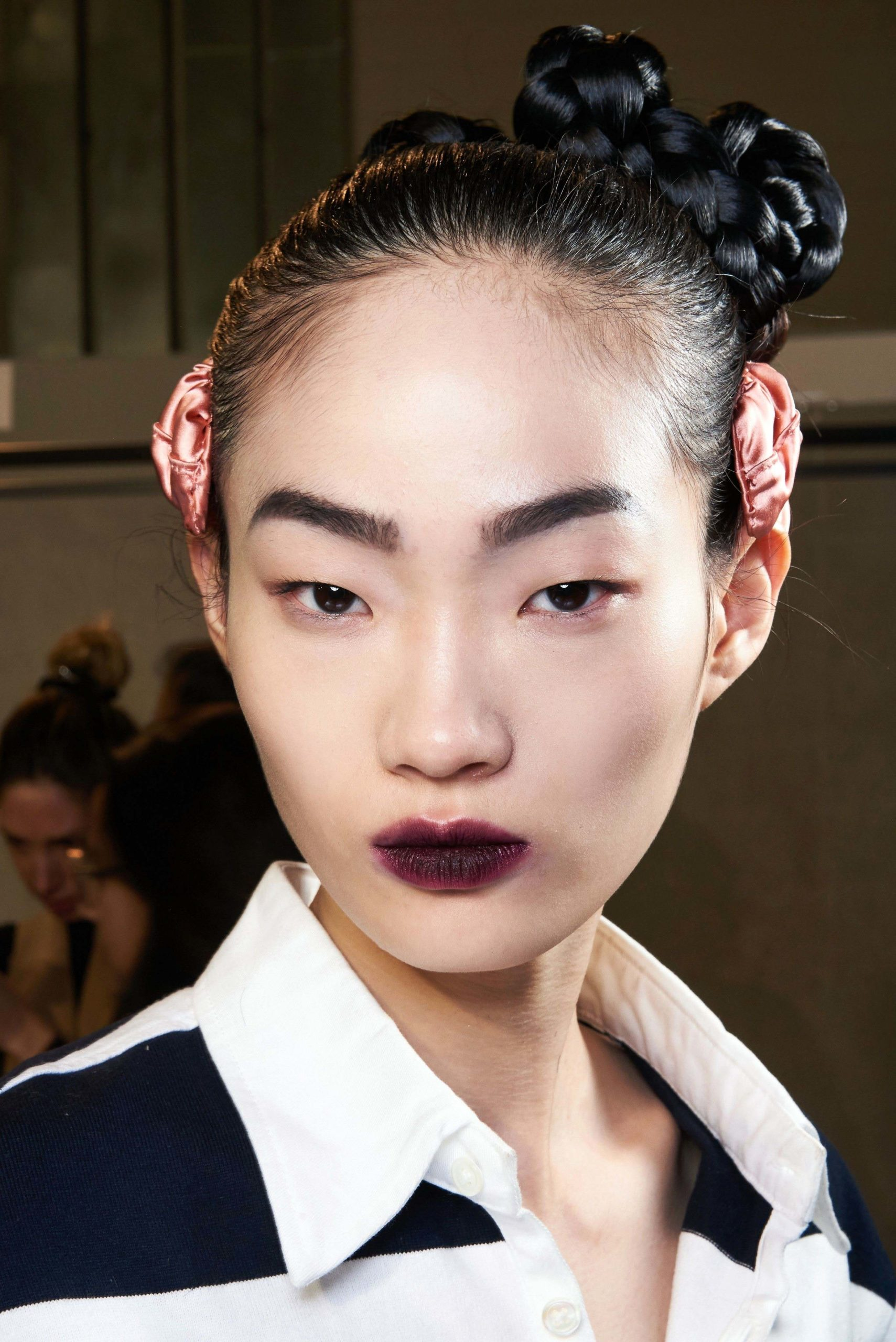 Fendi Fall 2020 trends runway report Ready To Wear Vogue wine lips