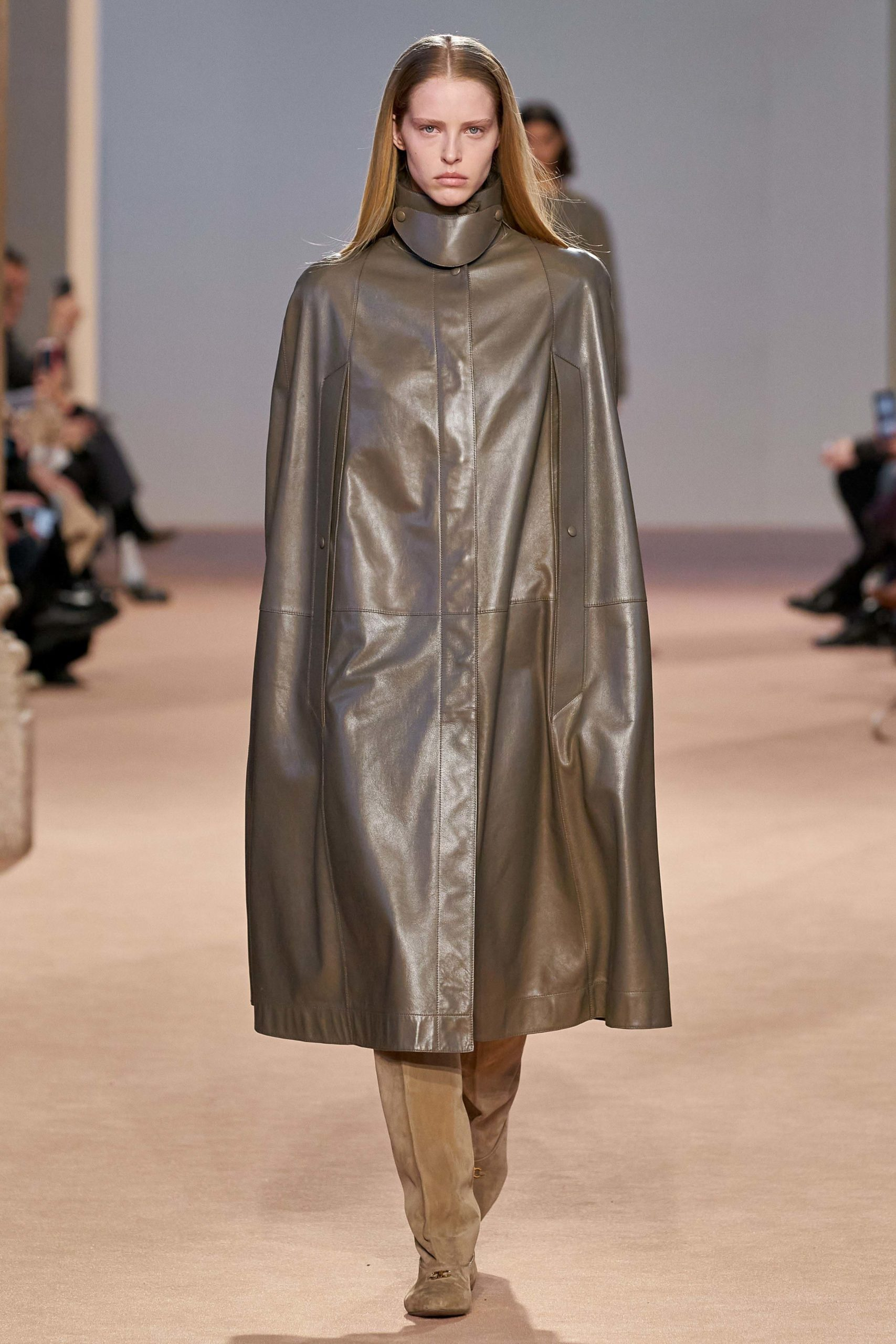 Ferragamo Fall 2020 trends runway coverage Ready To Wear Vogue capes with gloves