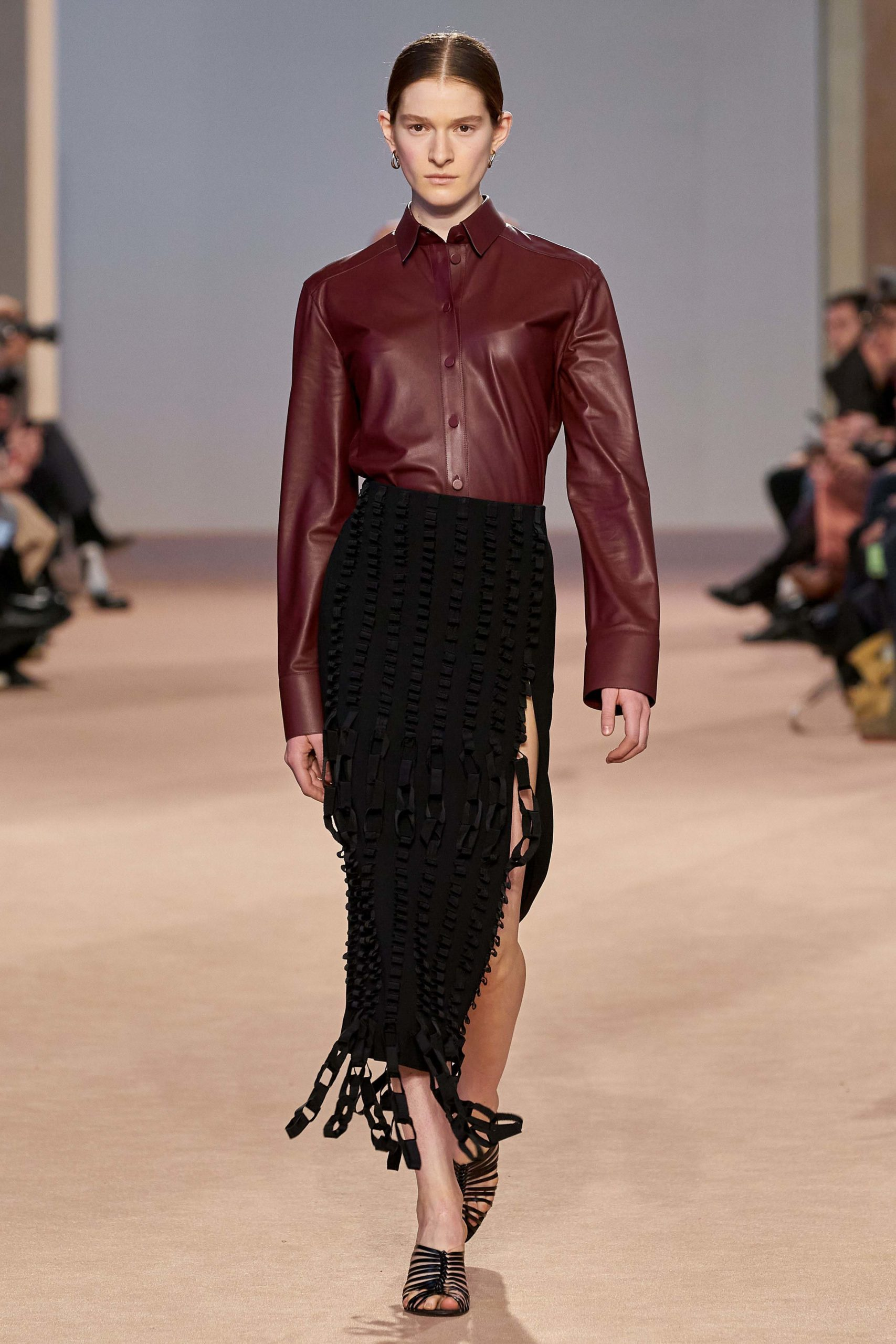 Ferragamo Fall 2020 trends runway coverage Ready To Wear Vogue fringes