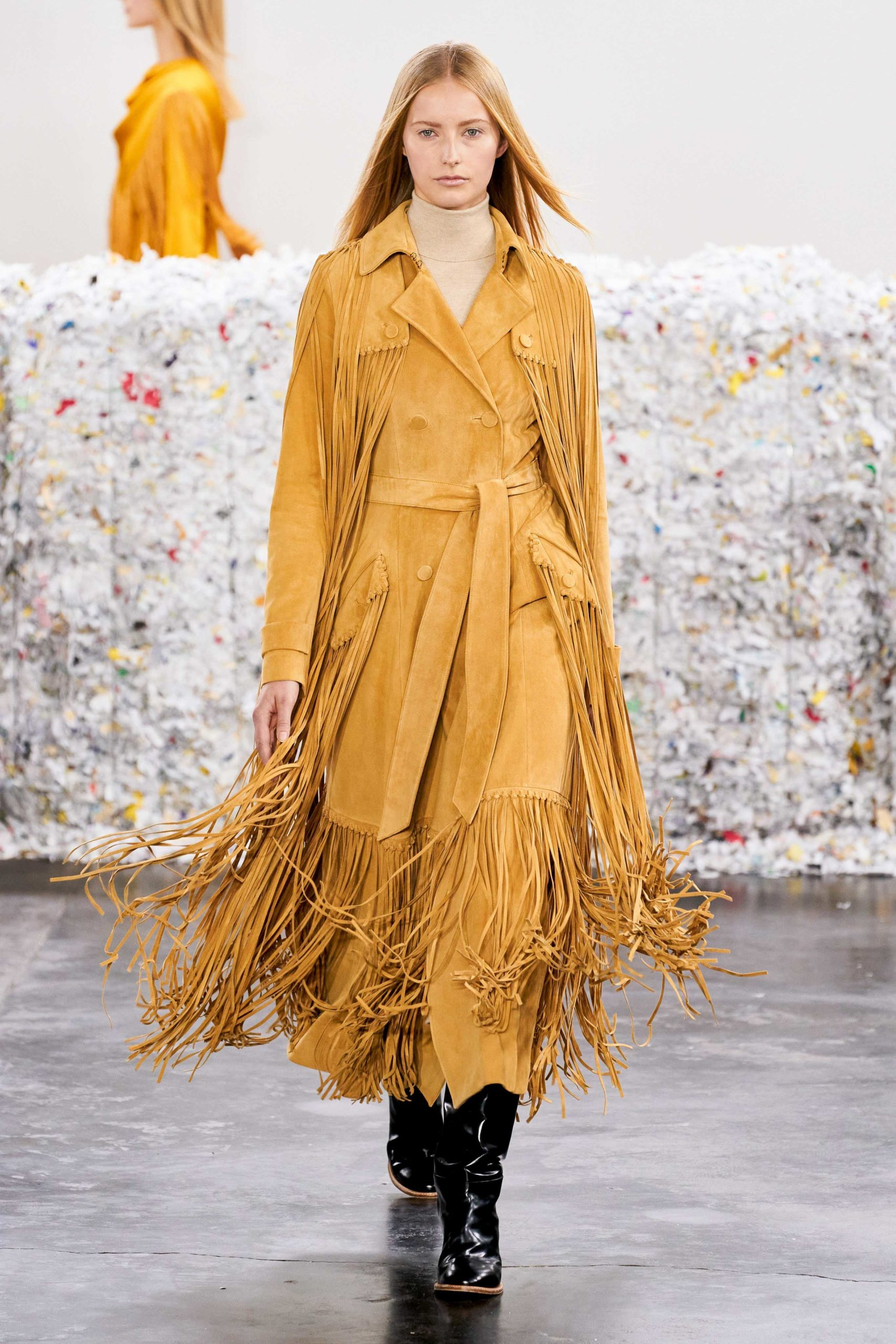 Gabriella Hearst Fall 2020 trends runway coverage Ready To Wear Vogue fringe