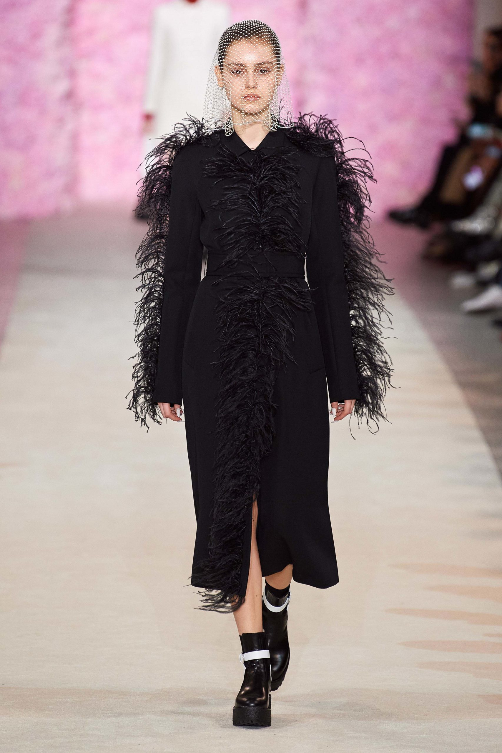 Giambatista Valli Fall 2020 trends runway coverage Ready To Wear Vogue feather