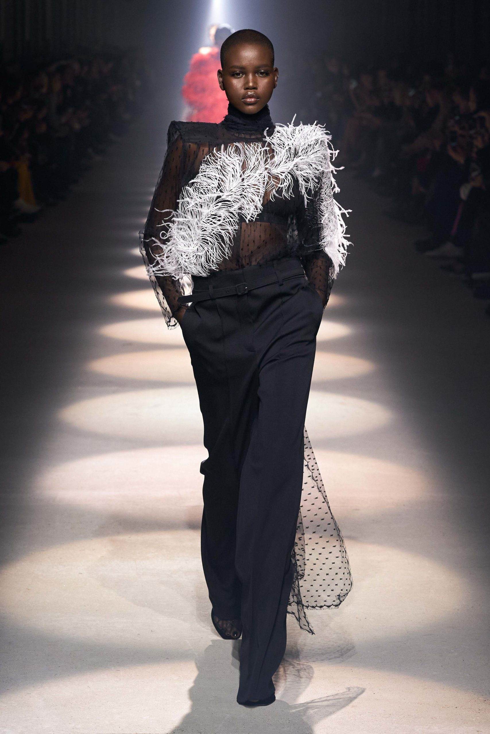 Givenchy Fall 2020 trends runway coverage Ready To Wear Vogue feather 2