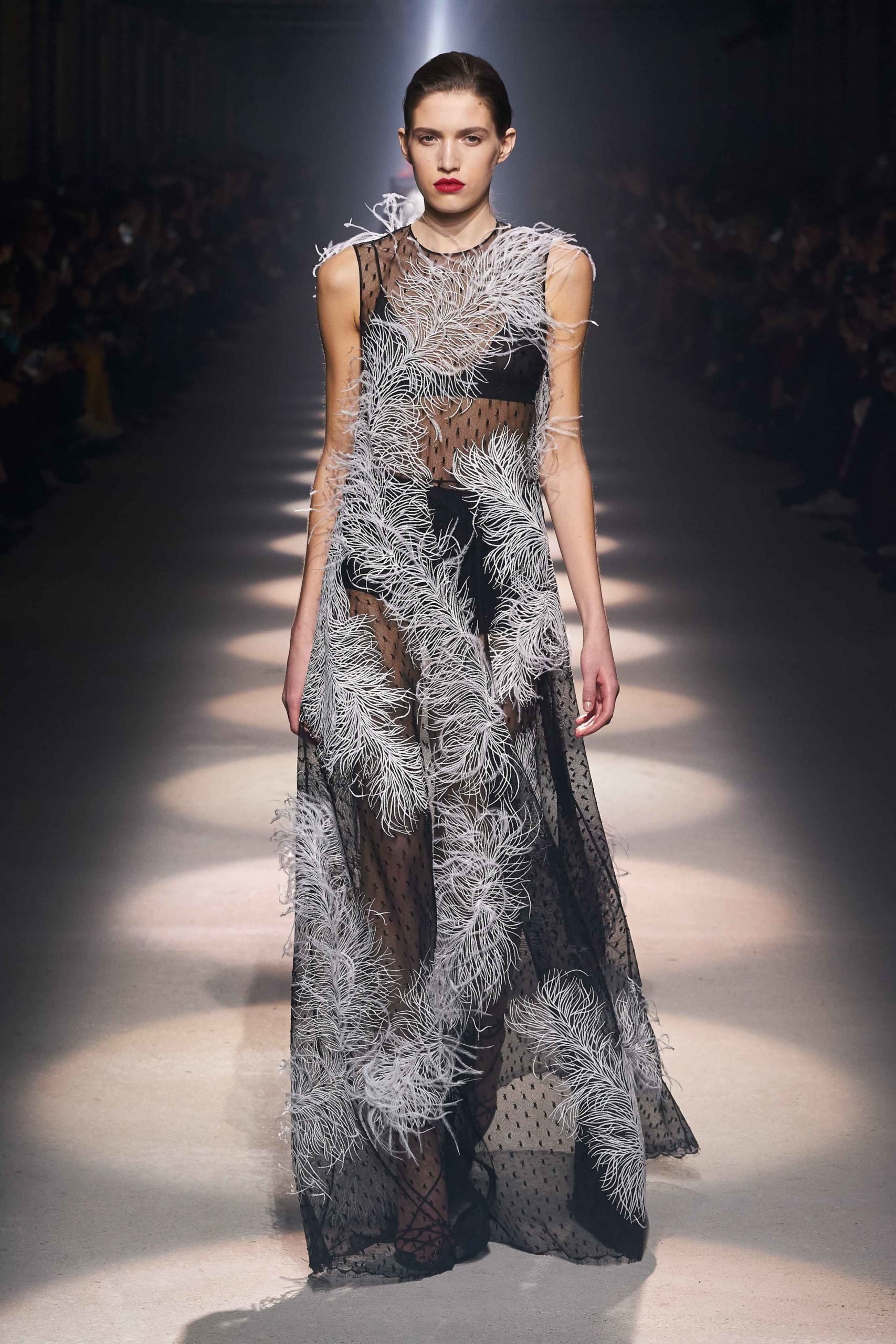 Givenchy Fall 2020 trends runway coverage Ready To Wear Vogue feather dress
