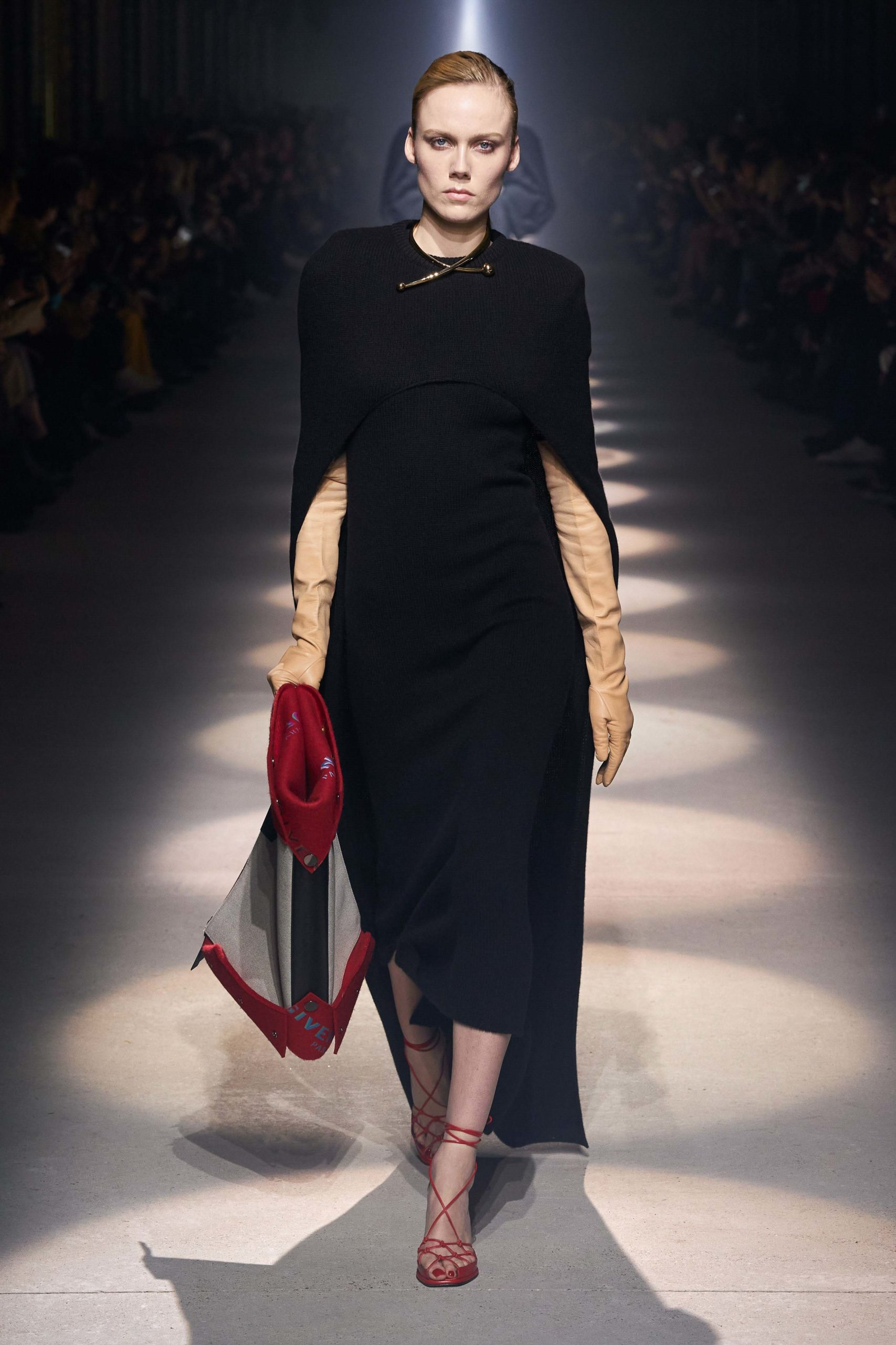 Givenchy Fall 2020 trends runway coverage Ready To Wear Vogue glove and cape