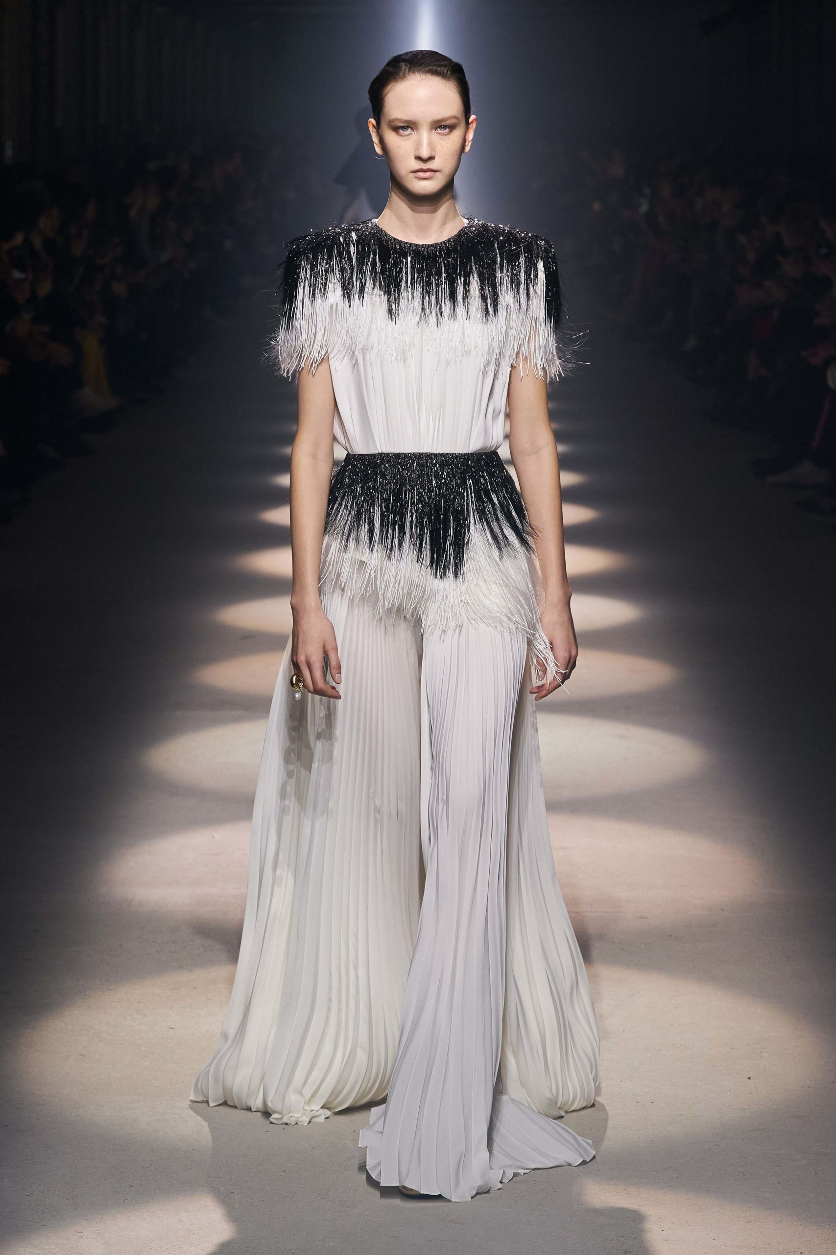 Givenchy Fall 2020 trends runway coverage Ready To Wear Vogue string of plears fringes