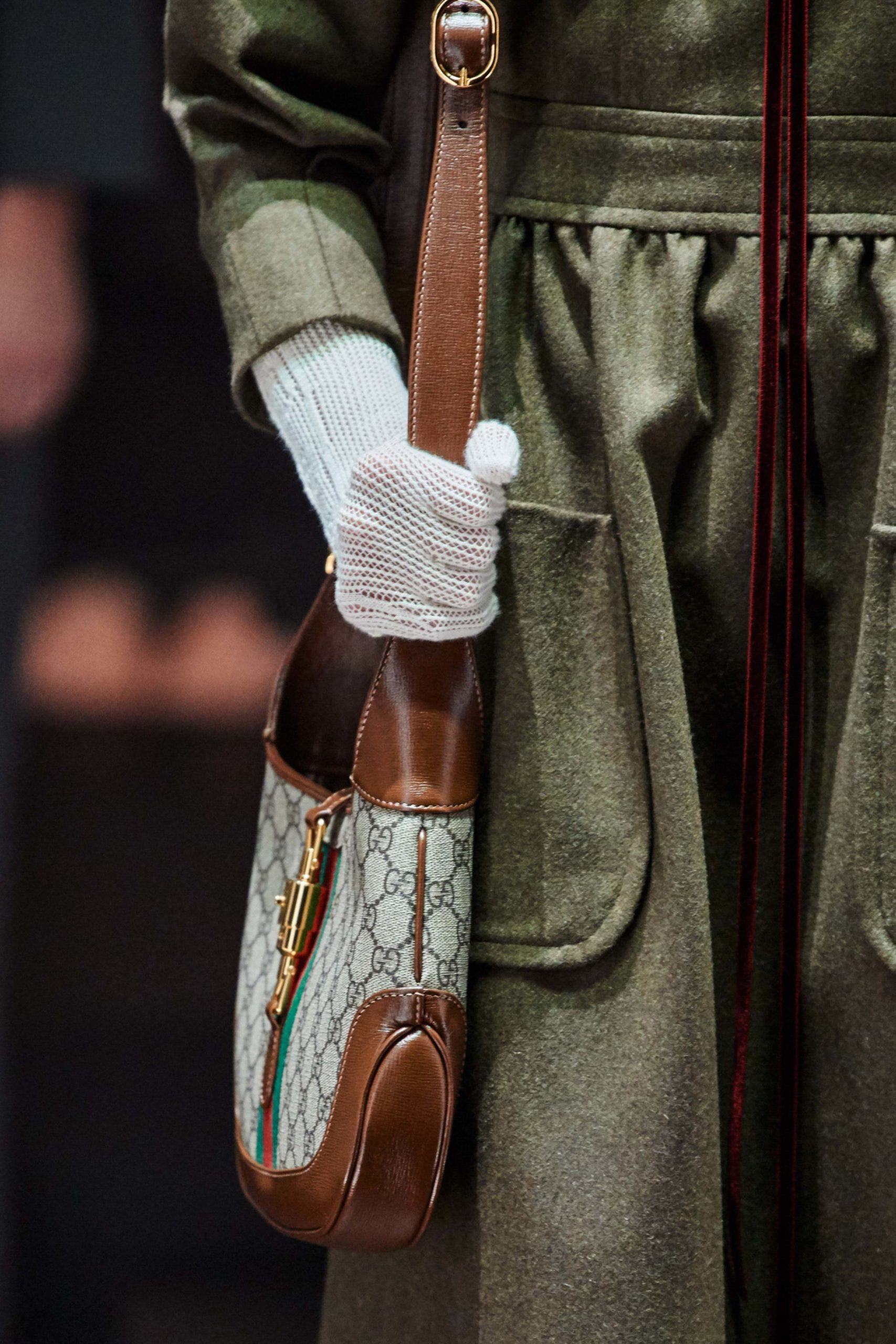 Gucci Fall 2020 trends runway coverage Ready To Wear Vogue gucci canvas bag brown vintage feel.