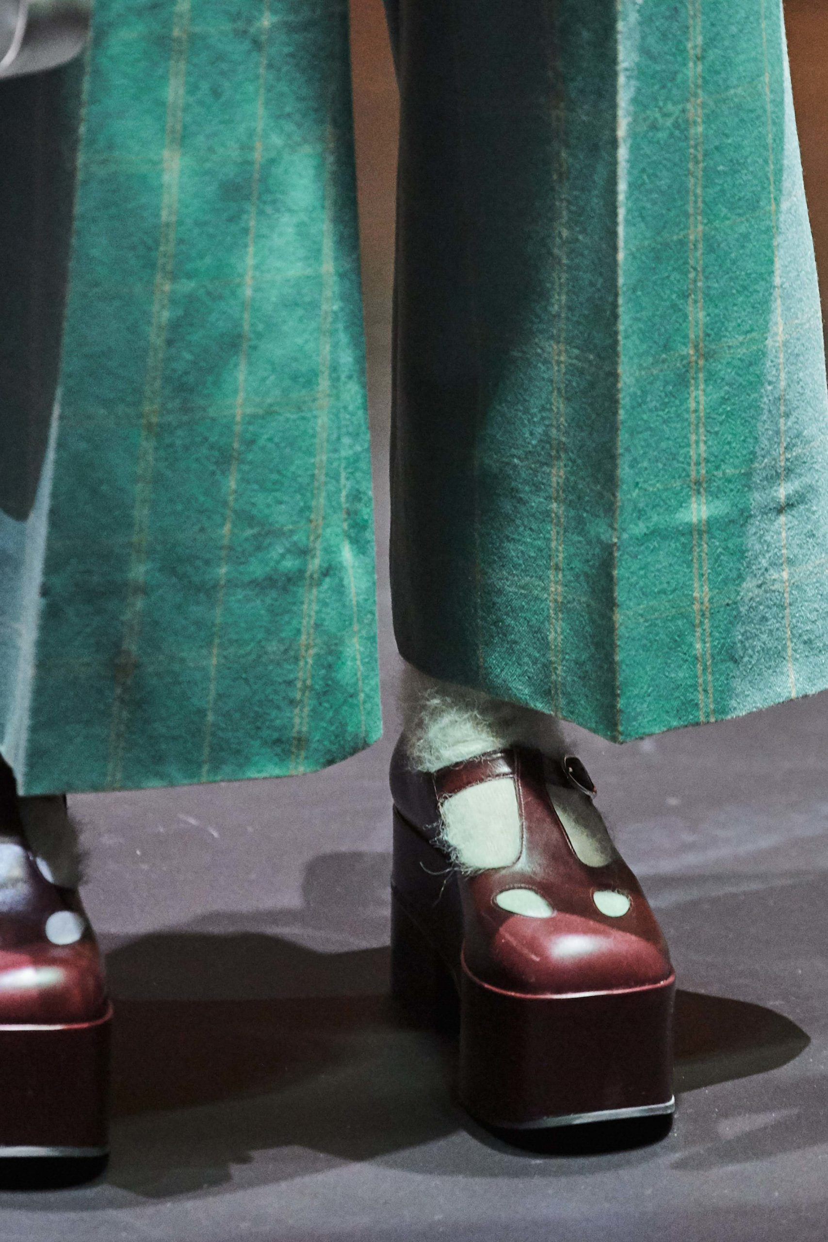 Gucci Fall 2020 trends runway coverage Ready To Wear Vogue platform shoes and socks