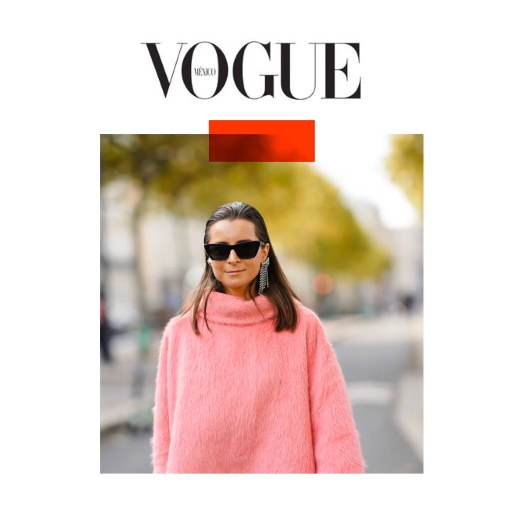 Vogue Mexico - Paris Fashion Week Spring 2020 - Julia Comil shot by Edward Berthelot - Julia is wearing Isabel Marant earrings, Saint Laurent sunglasses, Kristina Fidelskaya sweater - press