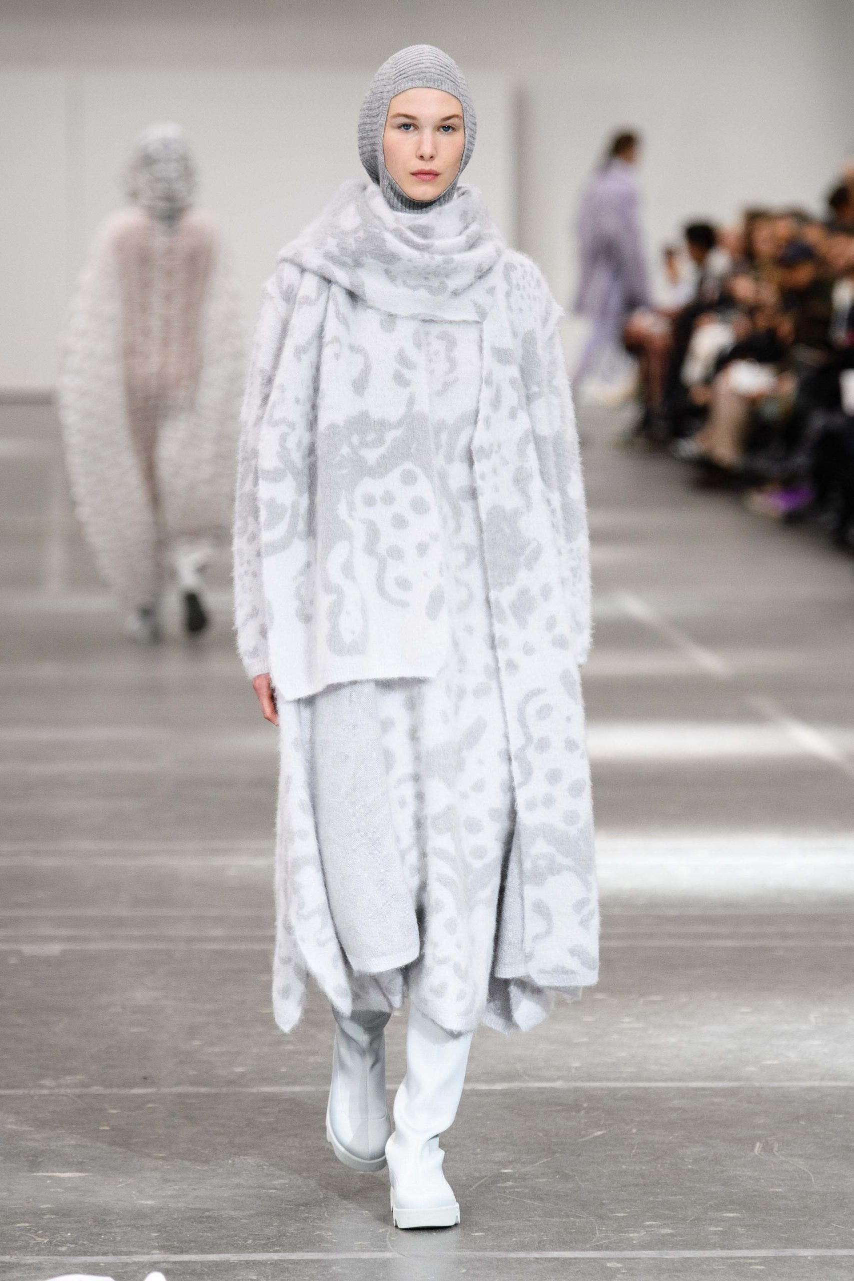 Issey Miyake Fall 2020 trends runway coverage Ready To Wear Vogue snood hood