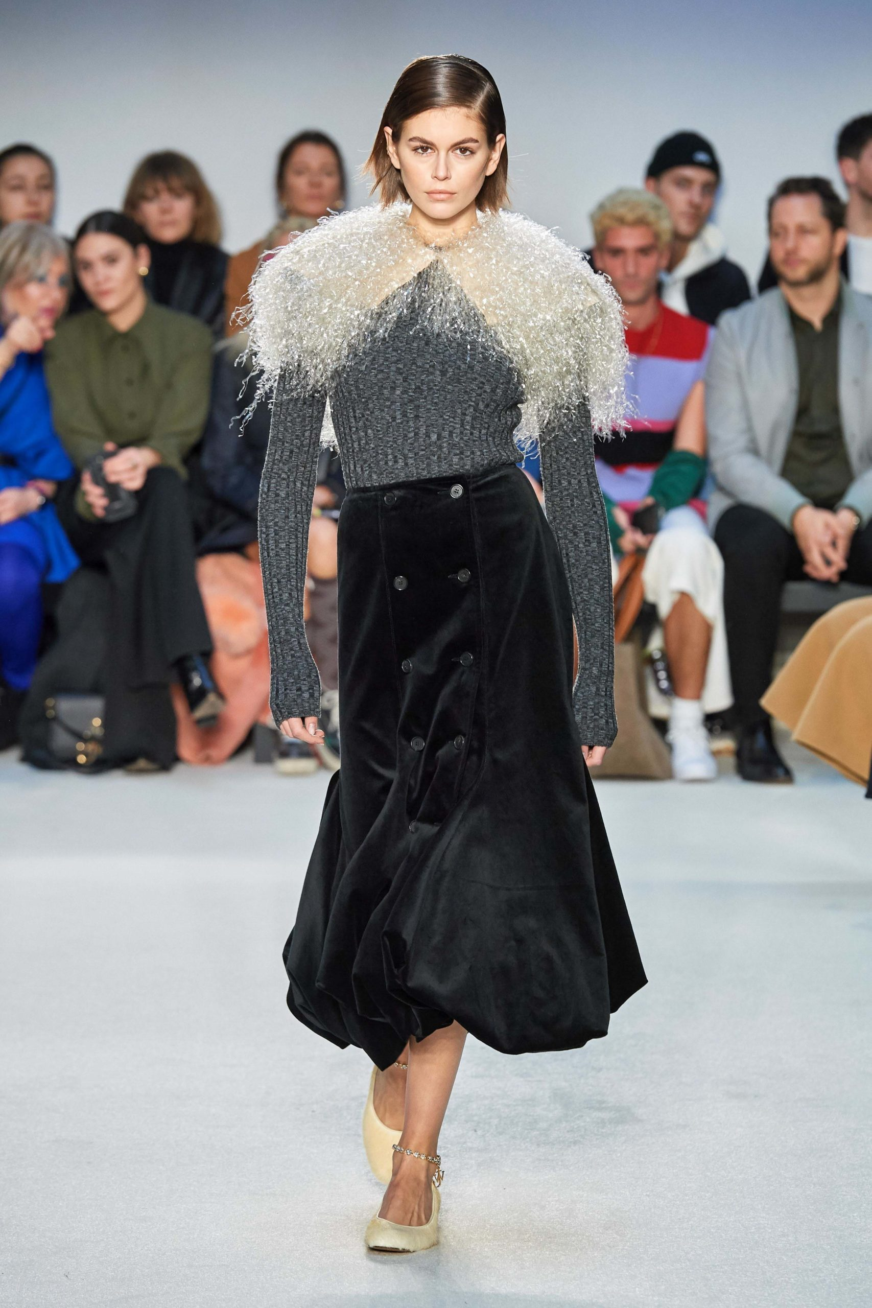 JW Anderson Mode Fall 2020 trends runway coverage Ready To Wear Vogue feather