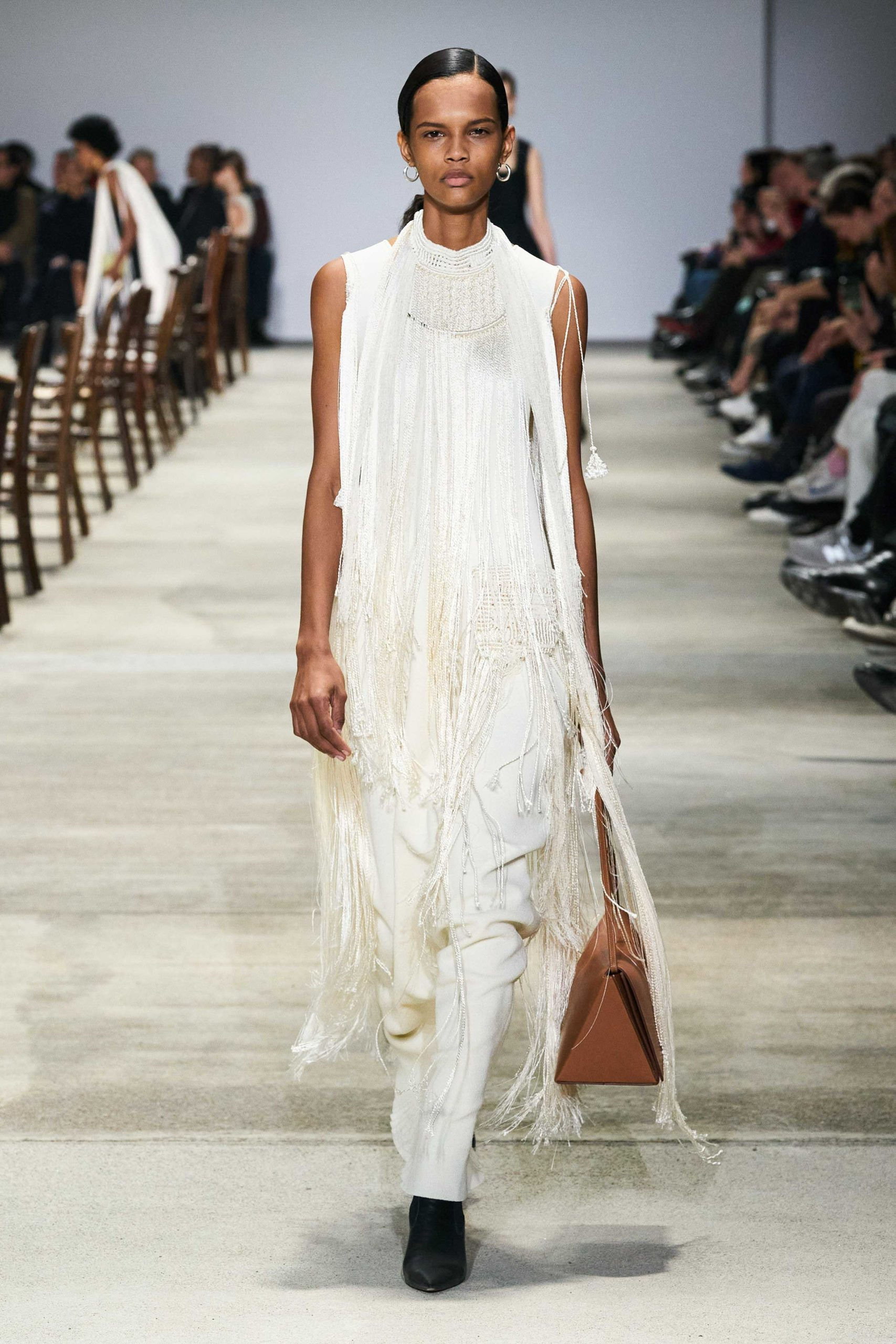 Jil Sander Fall 2020 trends runway coverage Ready To Wear Vogue fringe