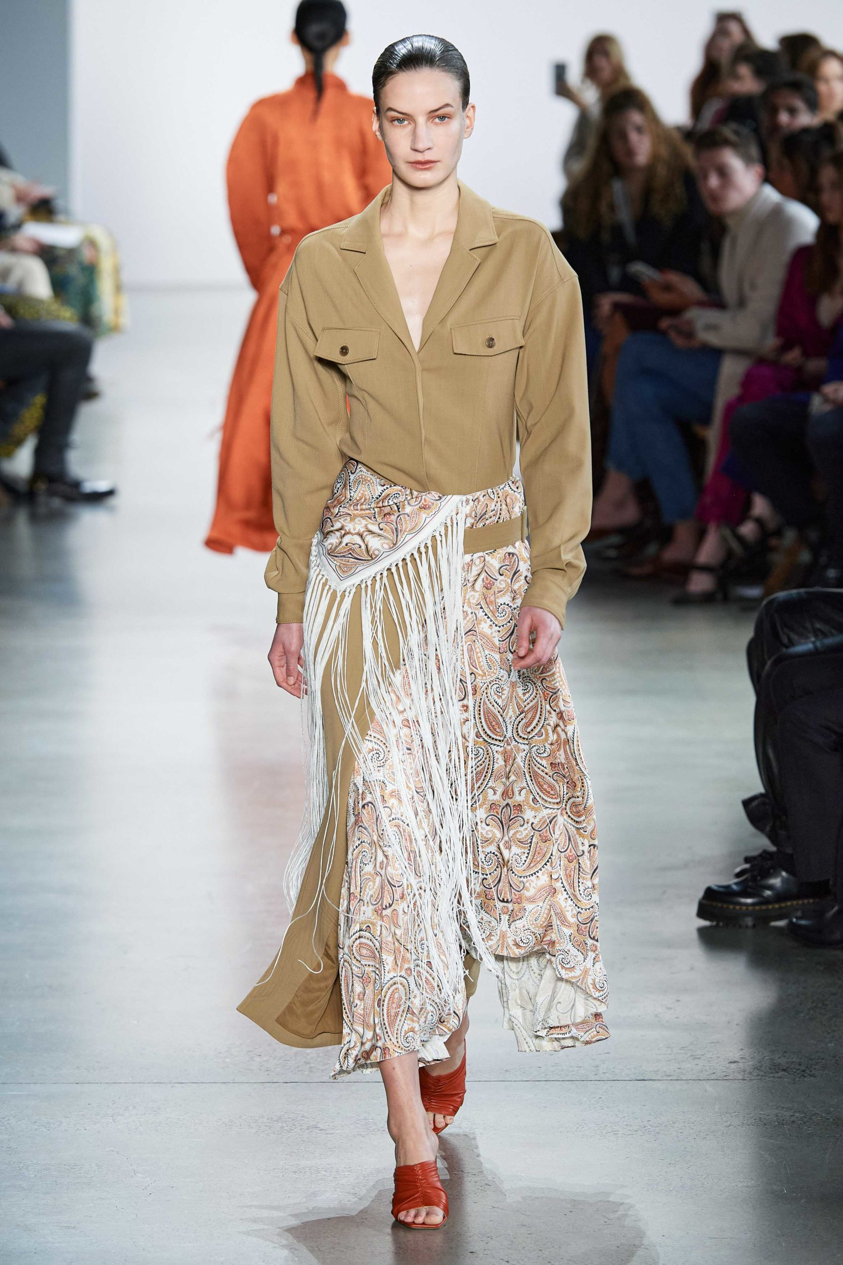 Jonathan Simkhai Fall 2020 trends runway coverage Ready To Wear fringe and print