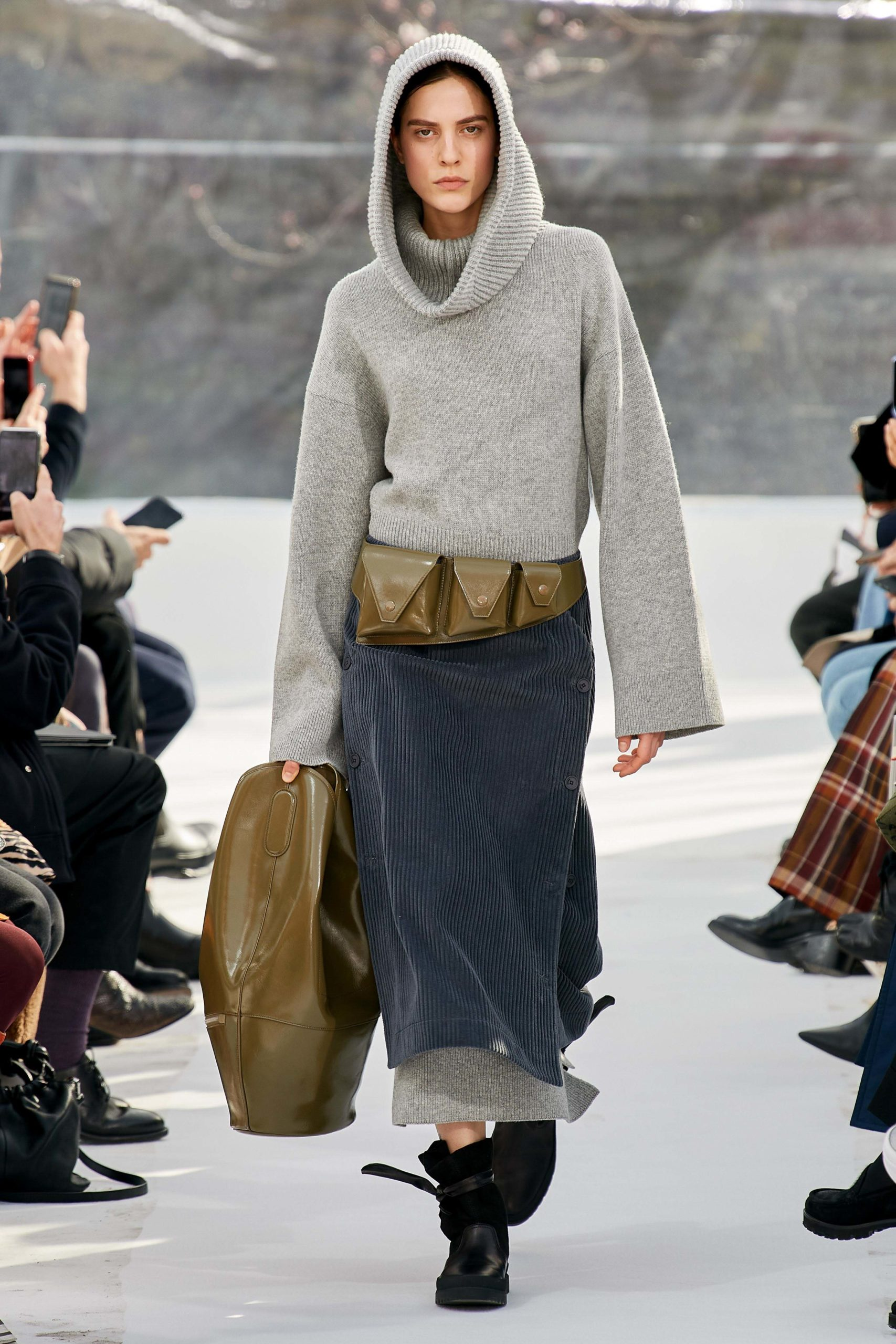 Kenzo Fall 2020 trends runway coverage Ready To Wear Vogue snood hood