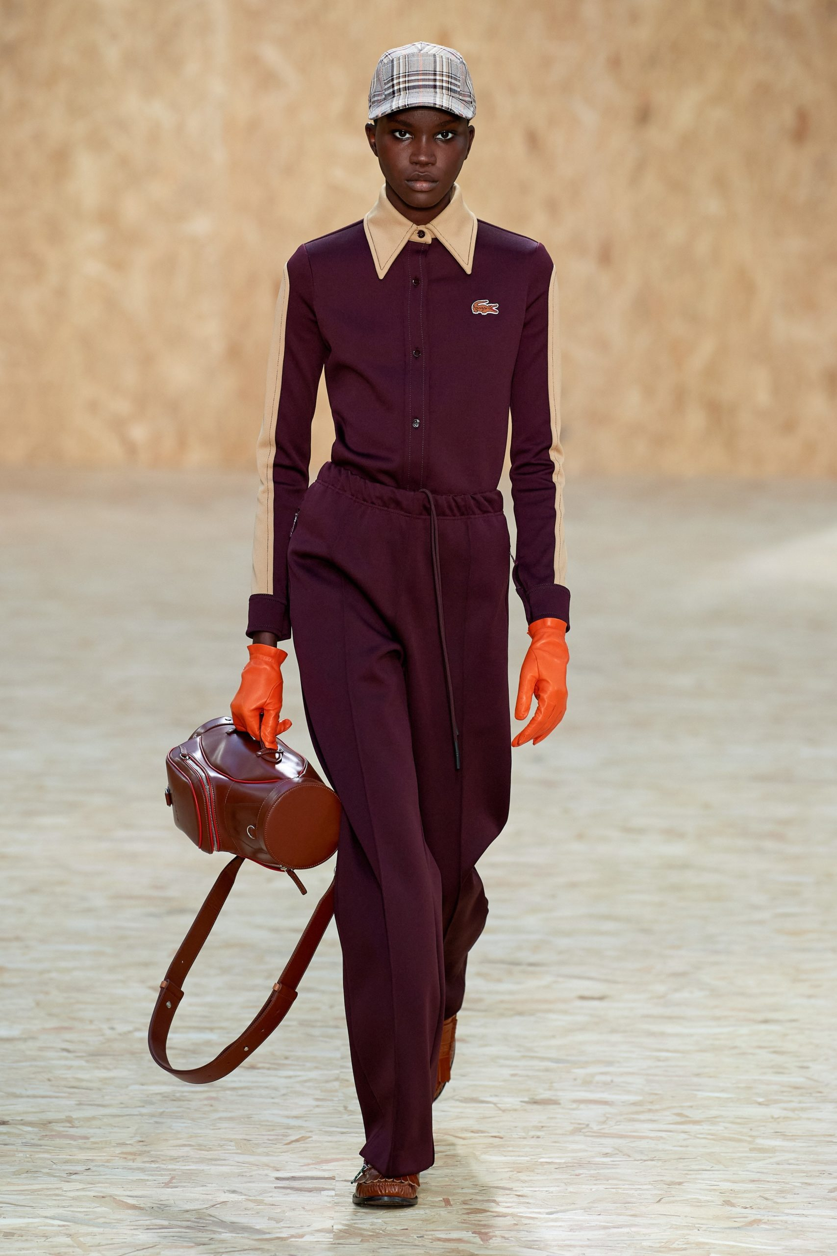 Lacoste Fall 2020 trends runway coverage Ready To Wear Vogue eggplant monochrome