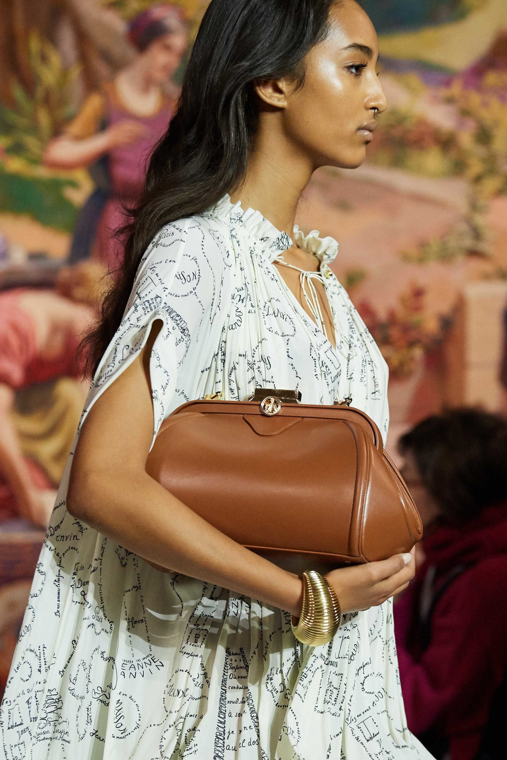 Lanvin Fall 2020 trends runway coverage Ready To Wear Vogue big clutch
