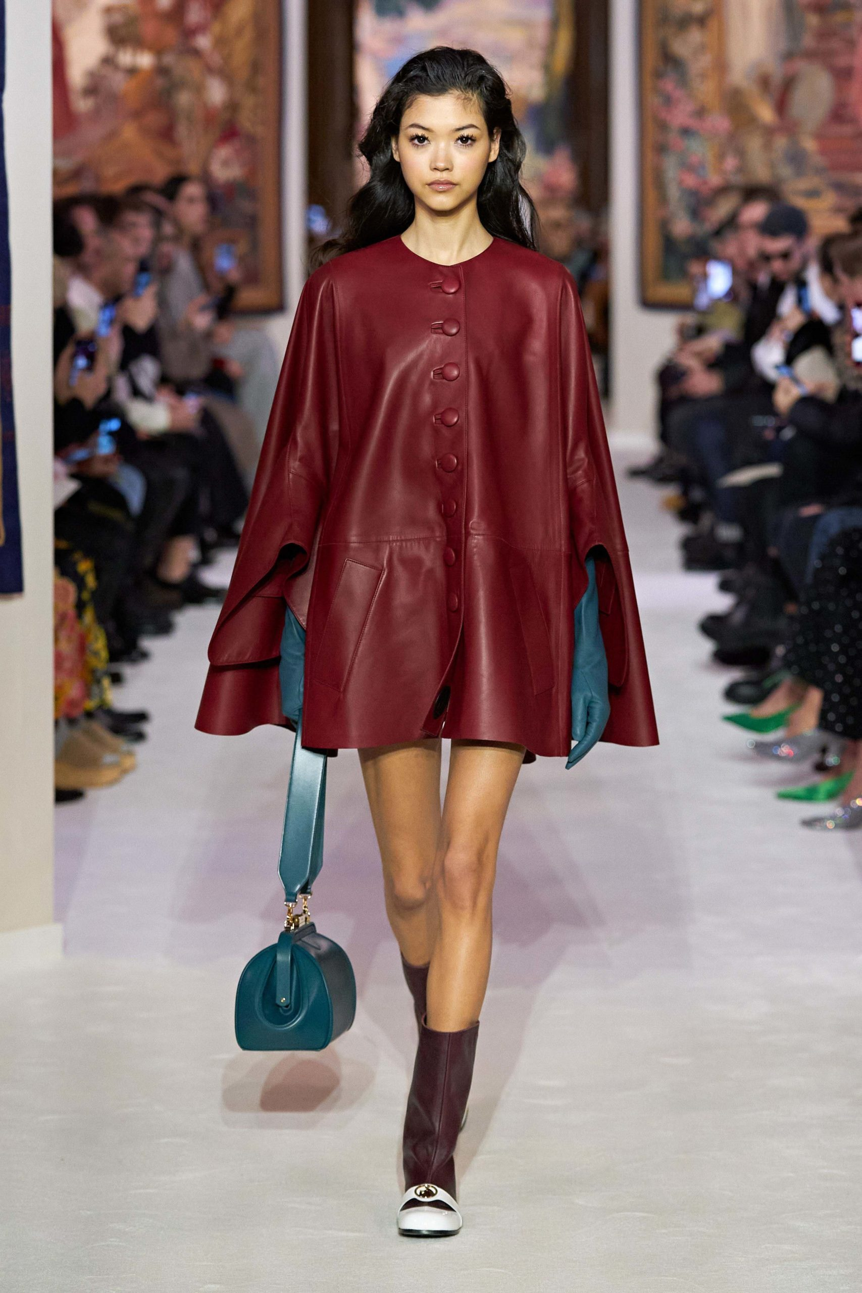 Lanvin Fall 2020 trends runway coverage Ready To Wear Vogue gloves capes with gloves eggplant