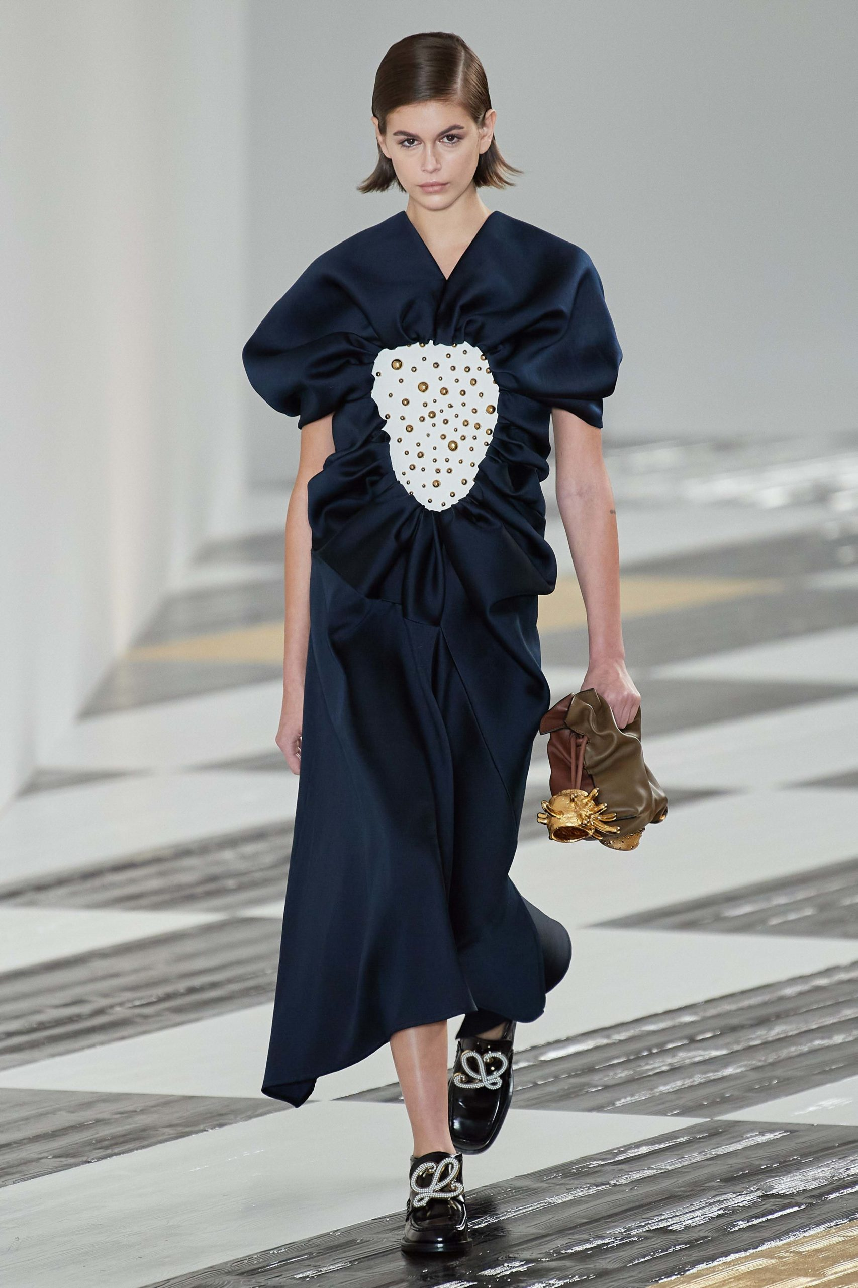 Loewe Fall 2020 trends runway coverage Ready To Wear Vogue dress 2