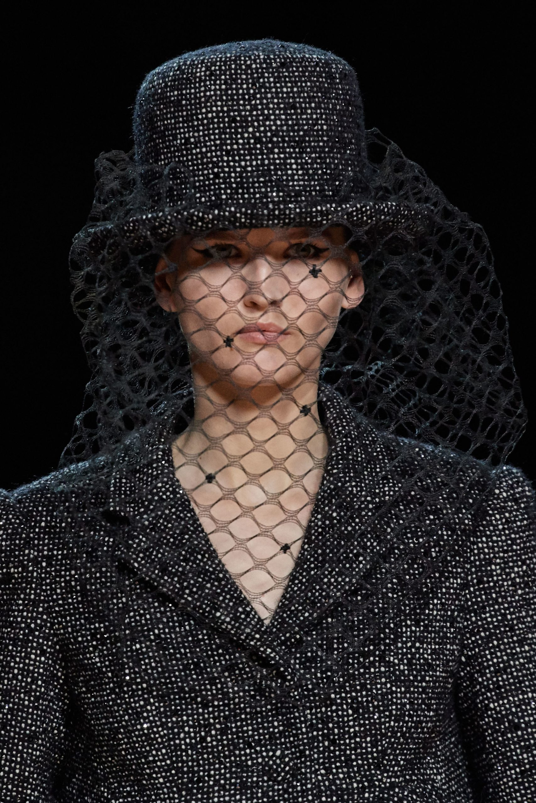 Marc Jacobs Fall 2020 trends runway coverage Ready To Wear Vogue veil hat