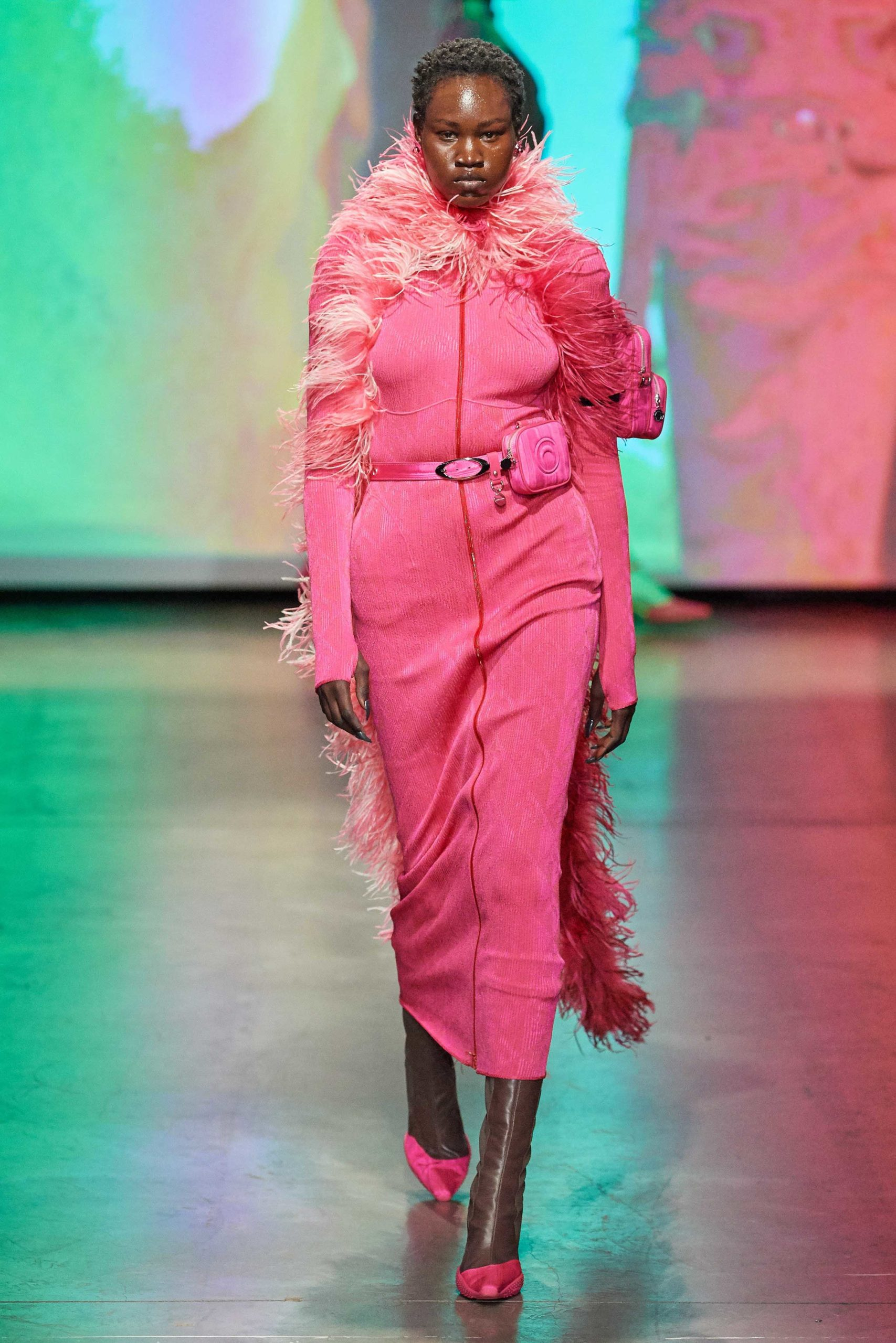 Marine Serre Fall 2020 trends runway coverage Ready To Wear Vogue feather