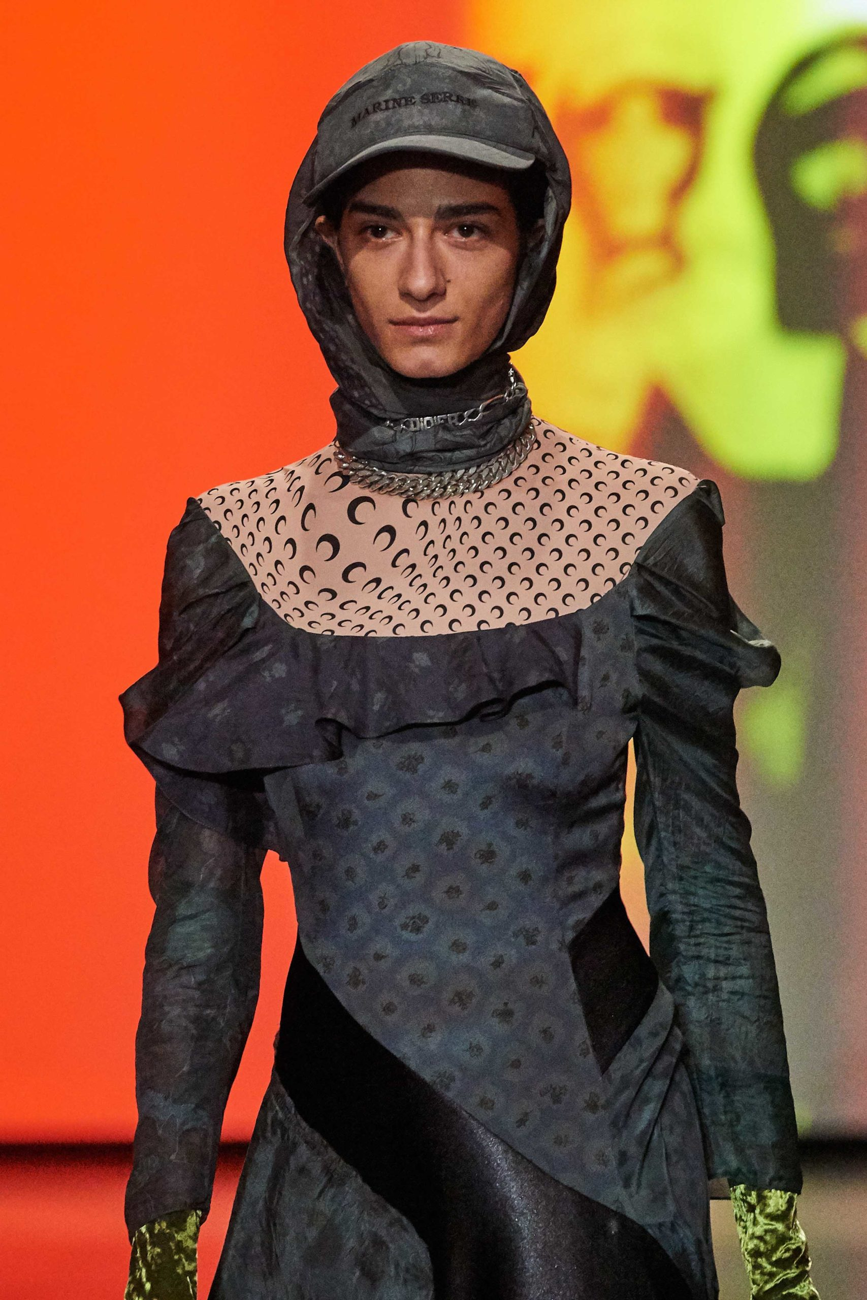 Marine Serre Fall 2020 trends runway coverage Ready To Wear Vogue snood hood