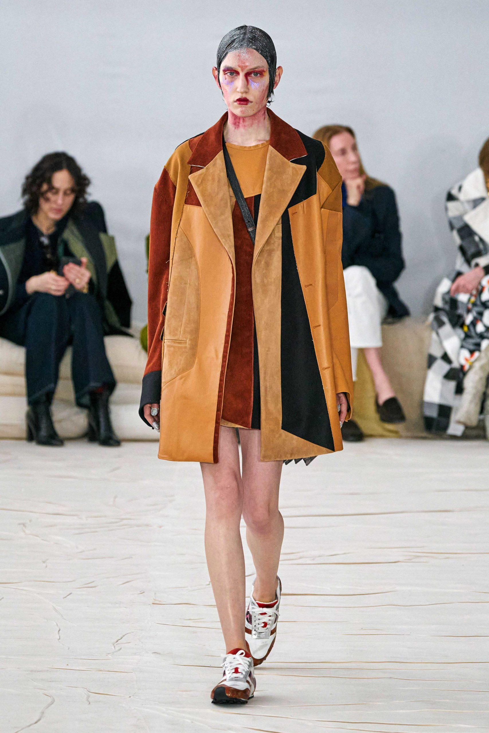 Marni Fall 2020 trends runway coverage Ready To Wear Vogue leather patchwork