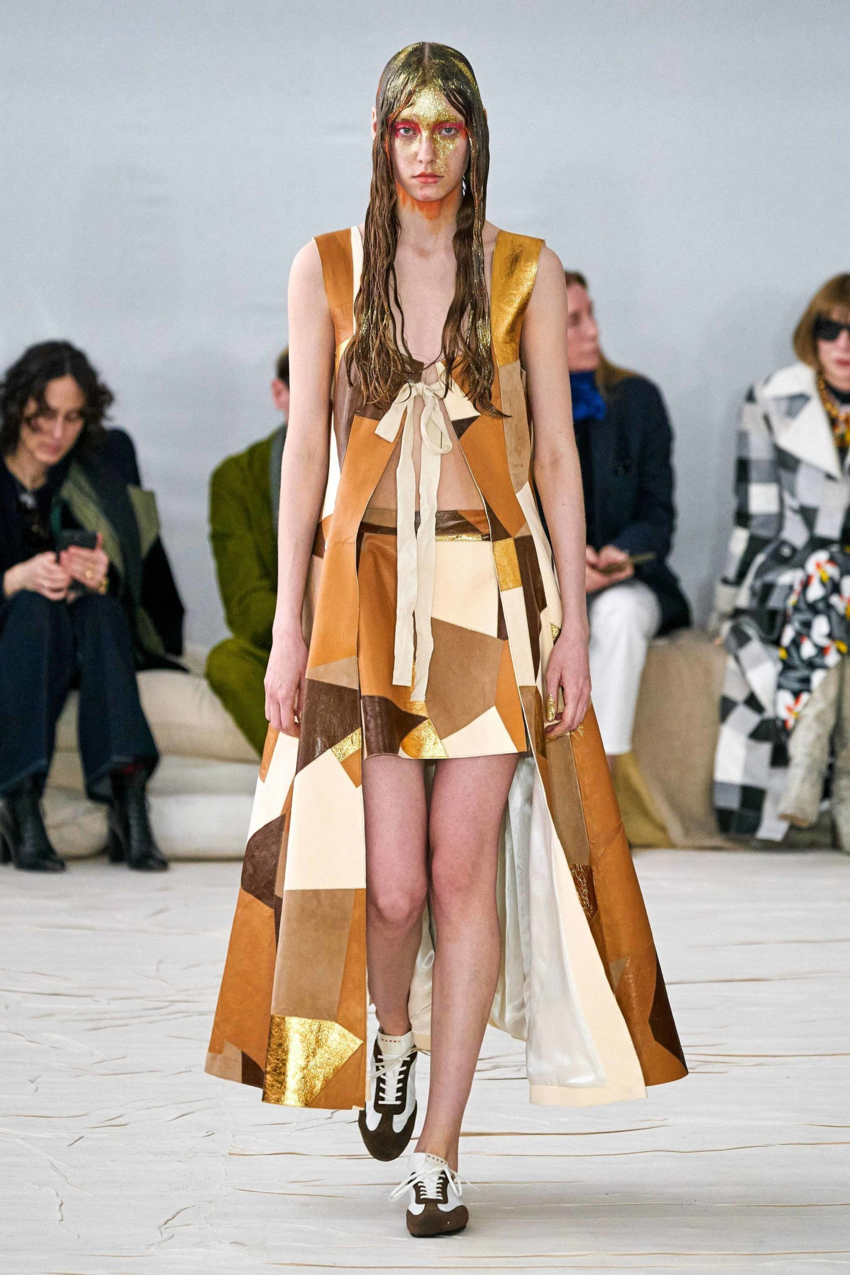 Marni Fall 2020 trends runway coverage Ready To Wear Vogue patchwork leather patchwork