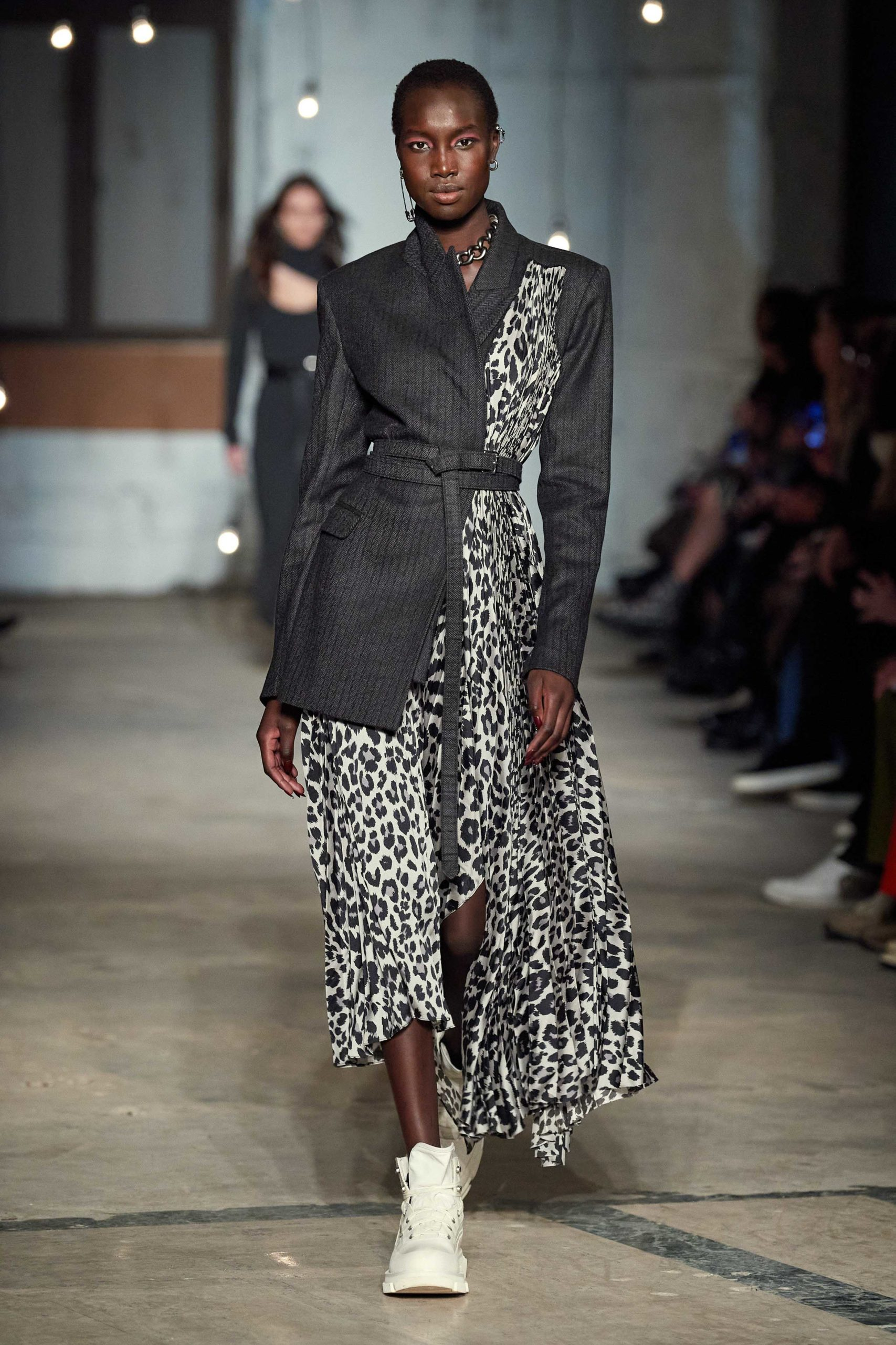Monse Fall 2020 trends runway coverage Ready To Wear Vogue wild animal front tie