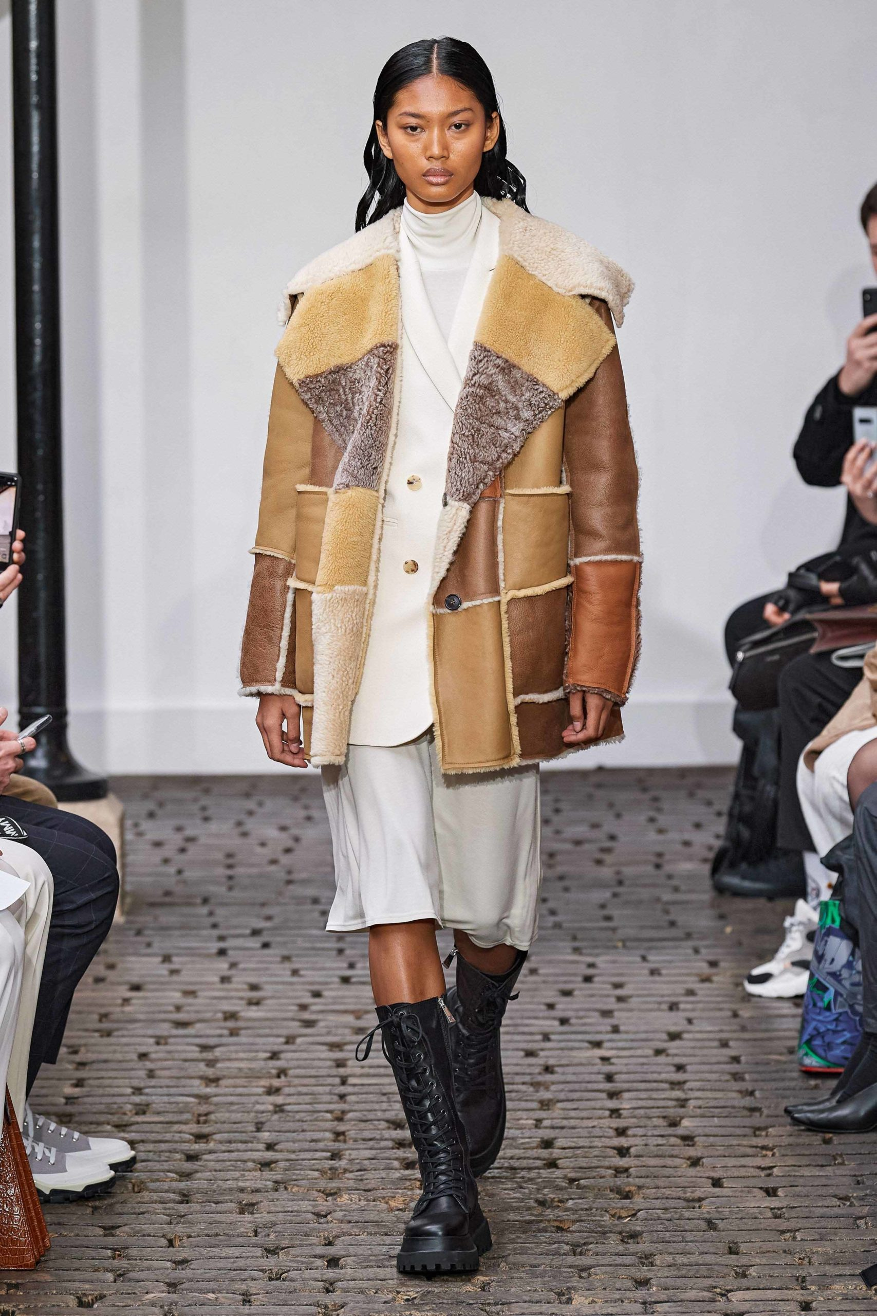 Nehera Fall 2020 trends runway coverage Ready To Wear Vogue leather patchwork