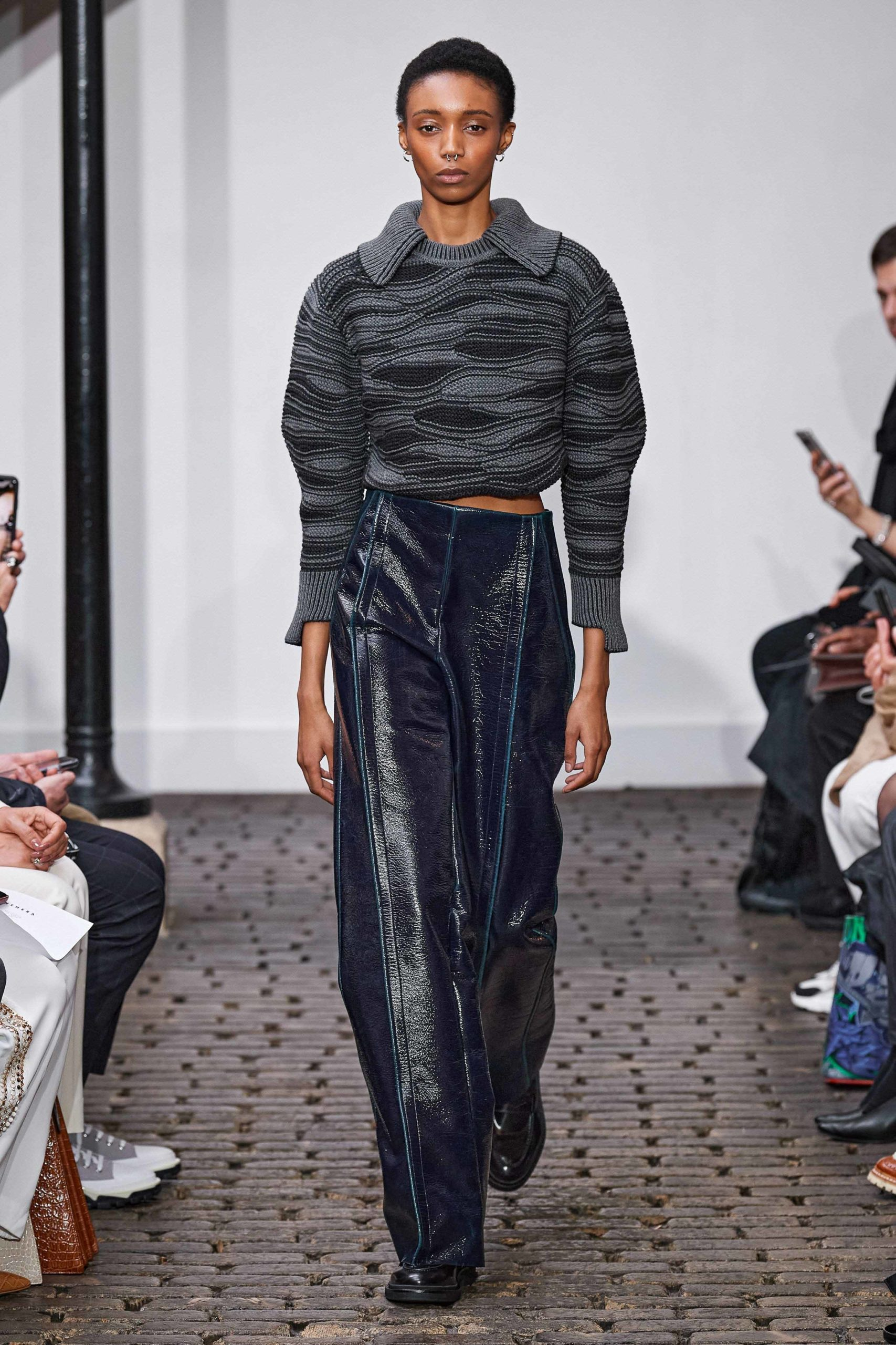 Nehera Fall 2020 trends runway coverage Ready To Wear Vogue leather patented pants luster glossy