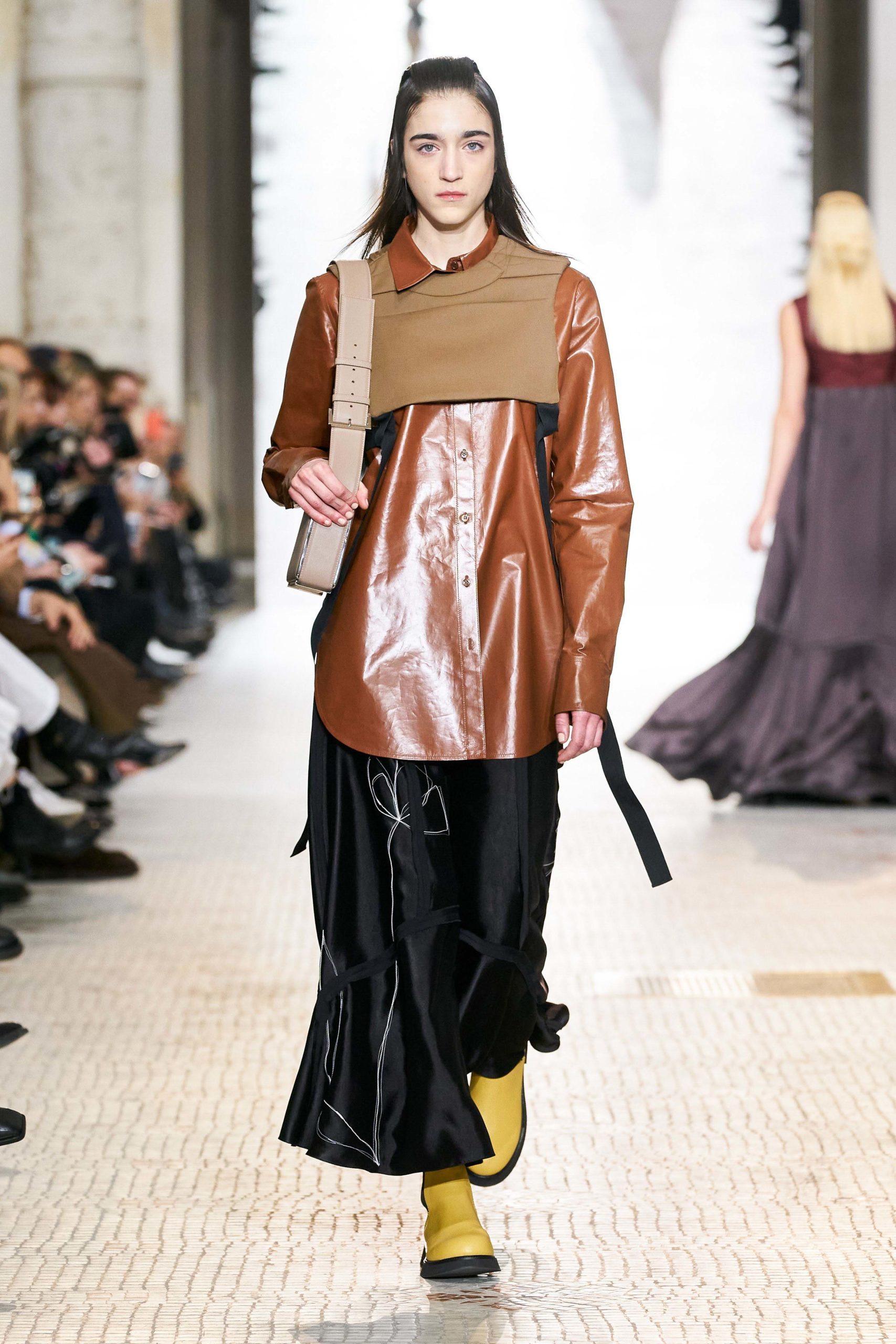Nina Ricci Fall 2020 trends runway coverage Ready To Wear Vogue plastron