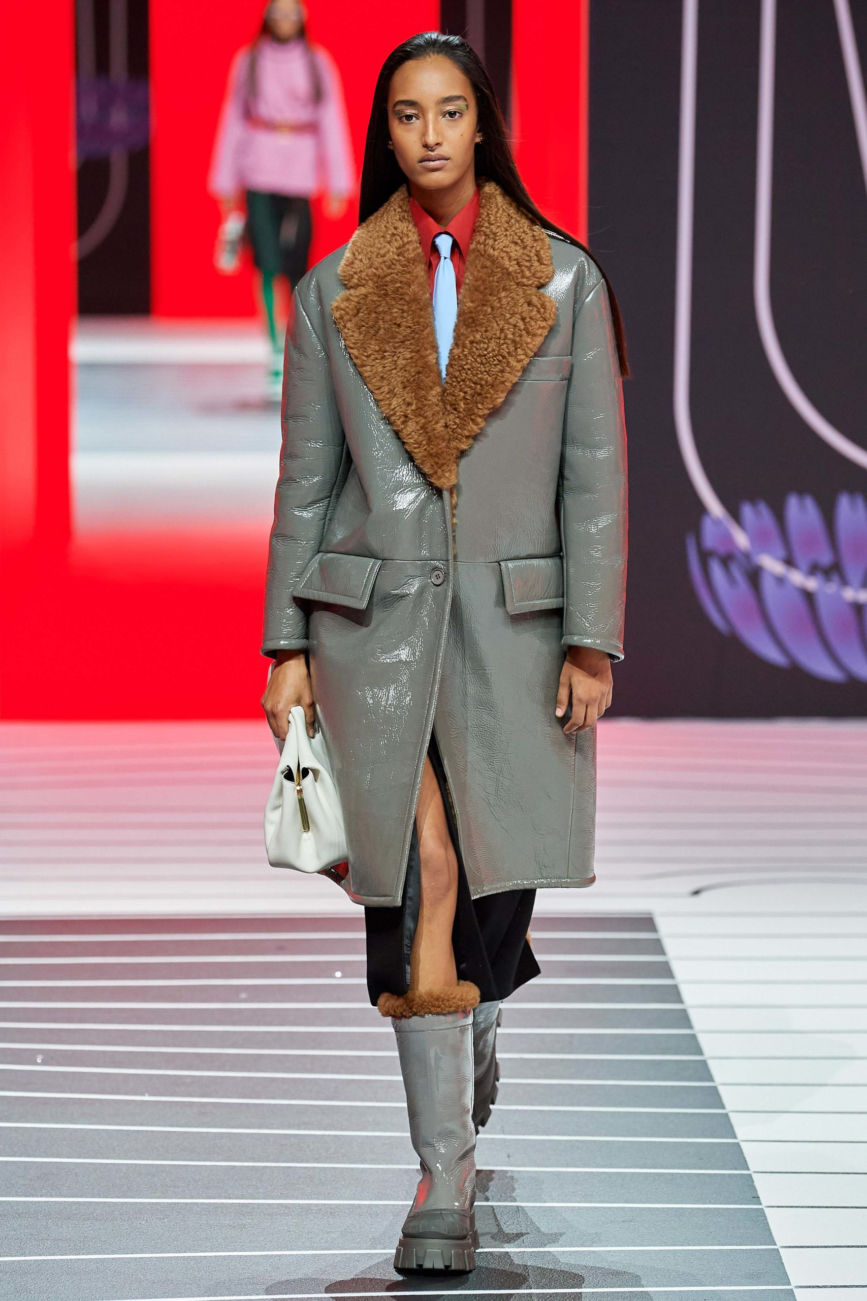 Prada Fall 2020 trends runway coverage Ready To Wear Vogue luster glossy