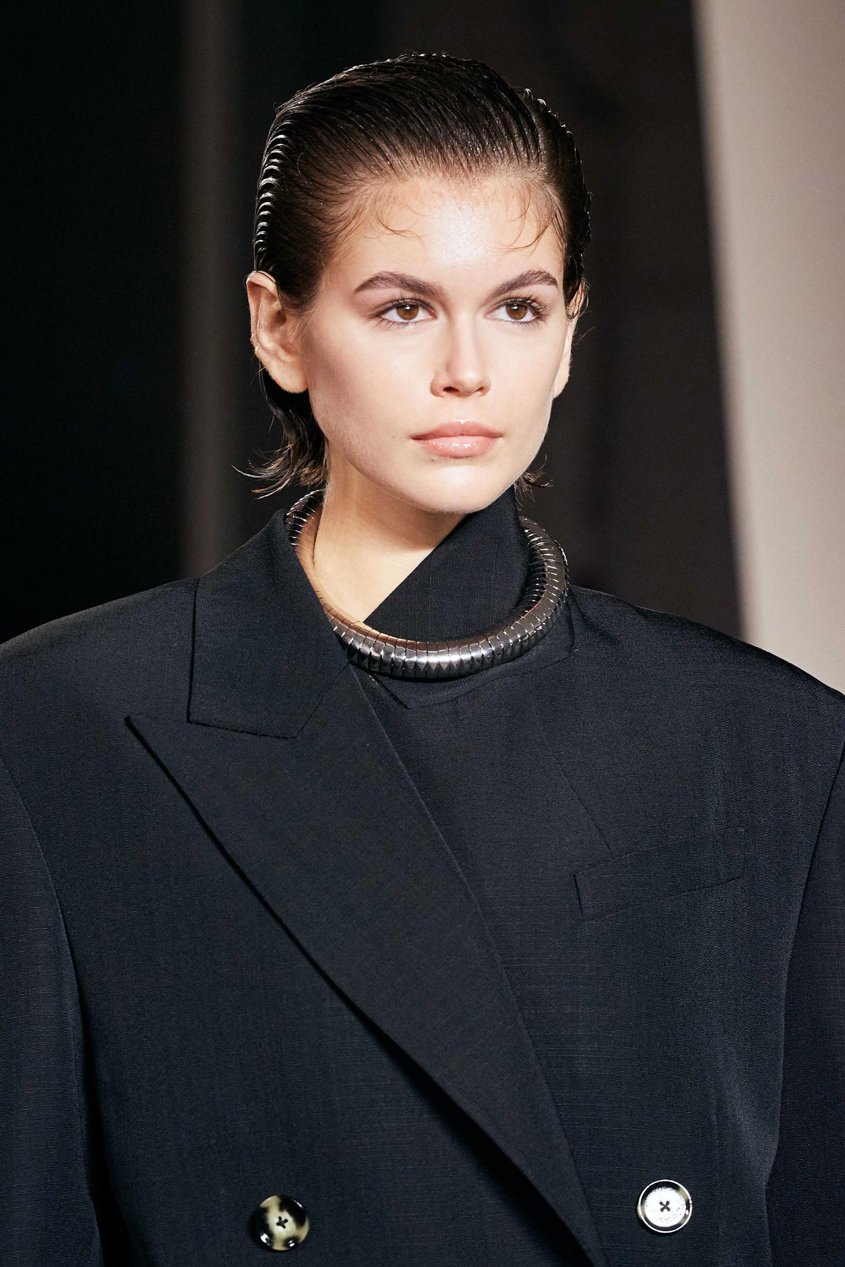 Proenza Schouler Fall 2020 trends runway coverage Ready To Wear Vogue beauty baby hair Kaia Gerber