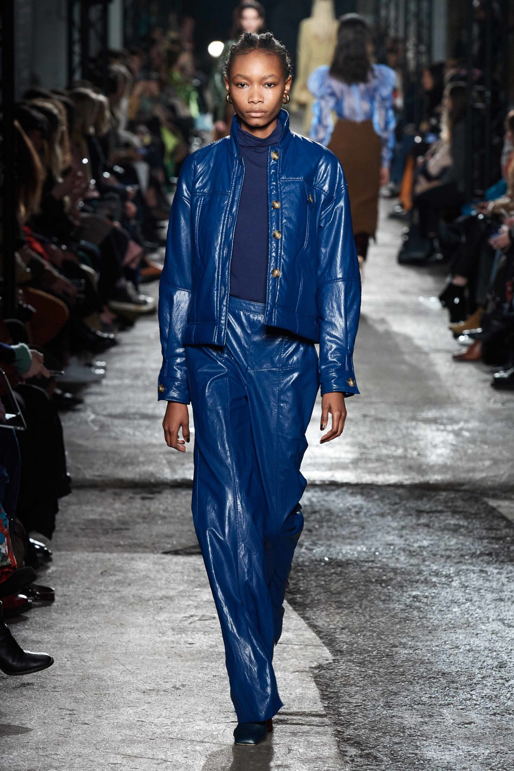 Rejina Pyo Fall 2020 trends runway coverage Ready To Wear Vogue blue luster glossy