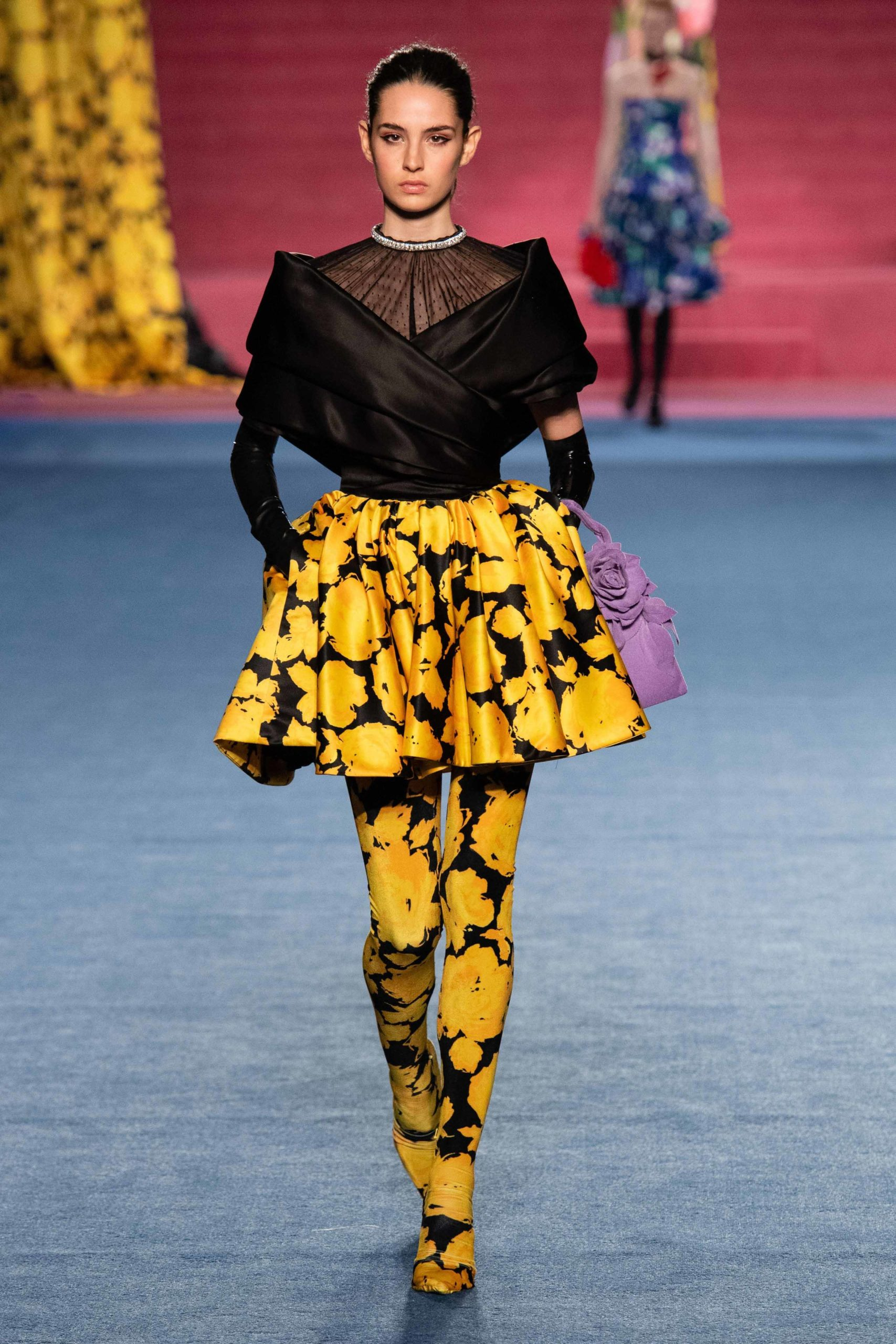Richard Quinn Fall 2020 trends runway coverage Ready To Wear Vogue Thigh High Boots
