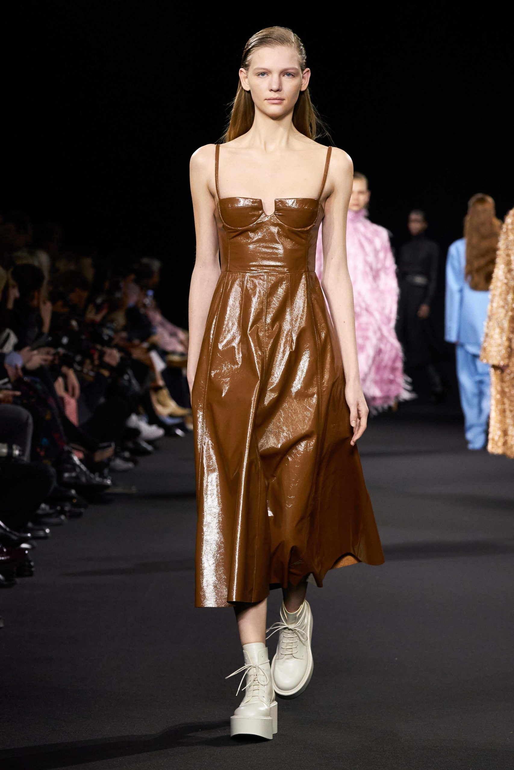 Rochas Fall 2020 trends runway coverage Ready To Wear Vogue brown luster glossy