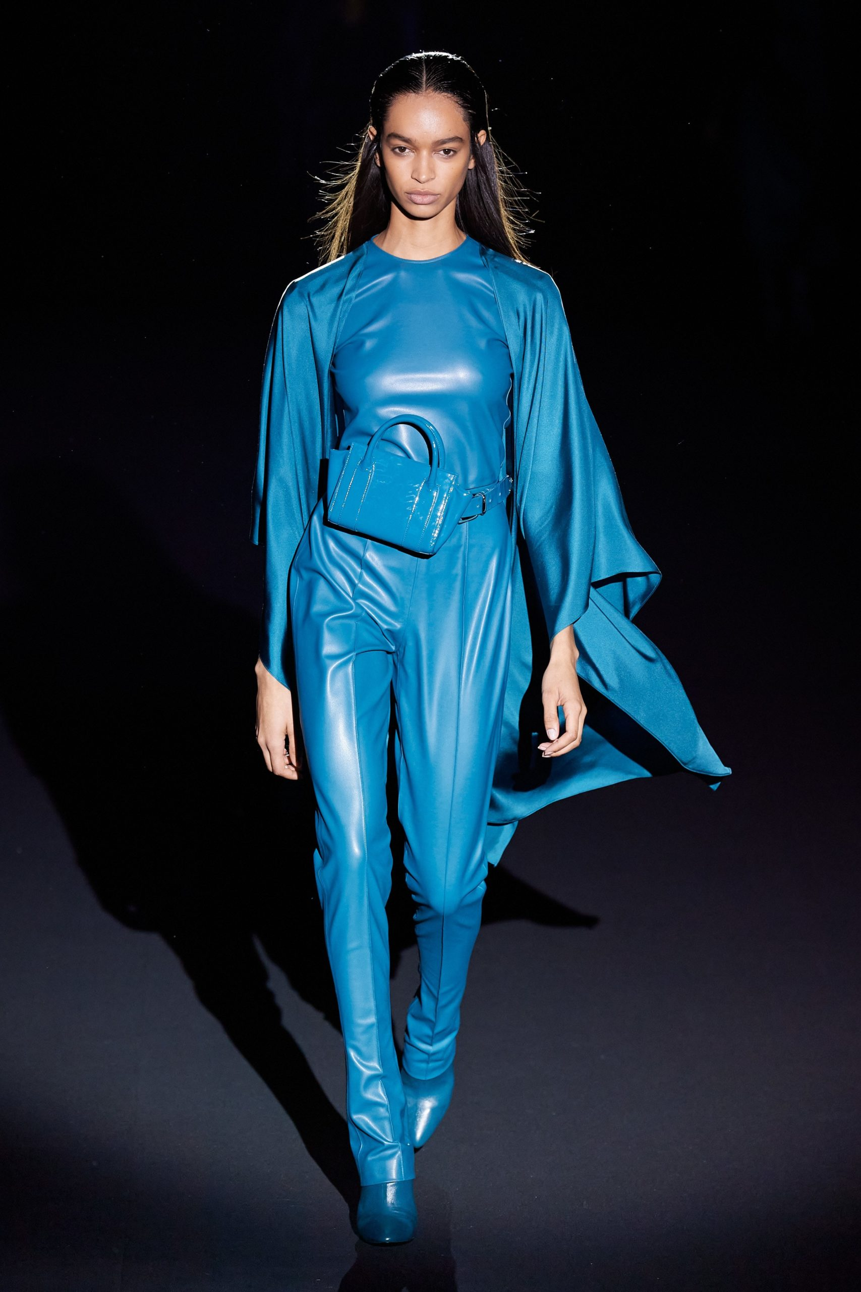 Sally Lapointe Fall 2020 trends runway coverage Ready To Wear Vogue Isabel Marant Fall 2020 trends runway coverage Ready To Wear Vogue leather blue monochrome