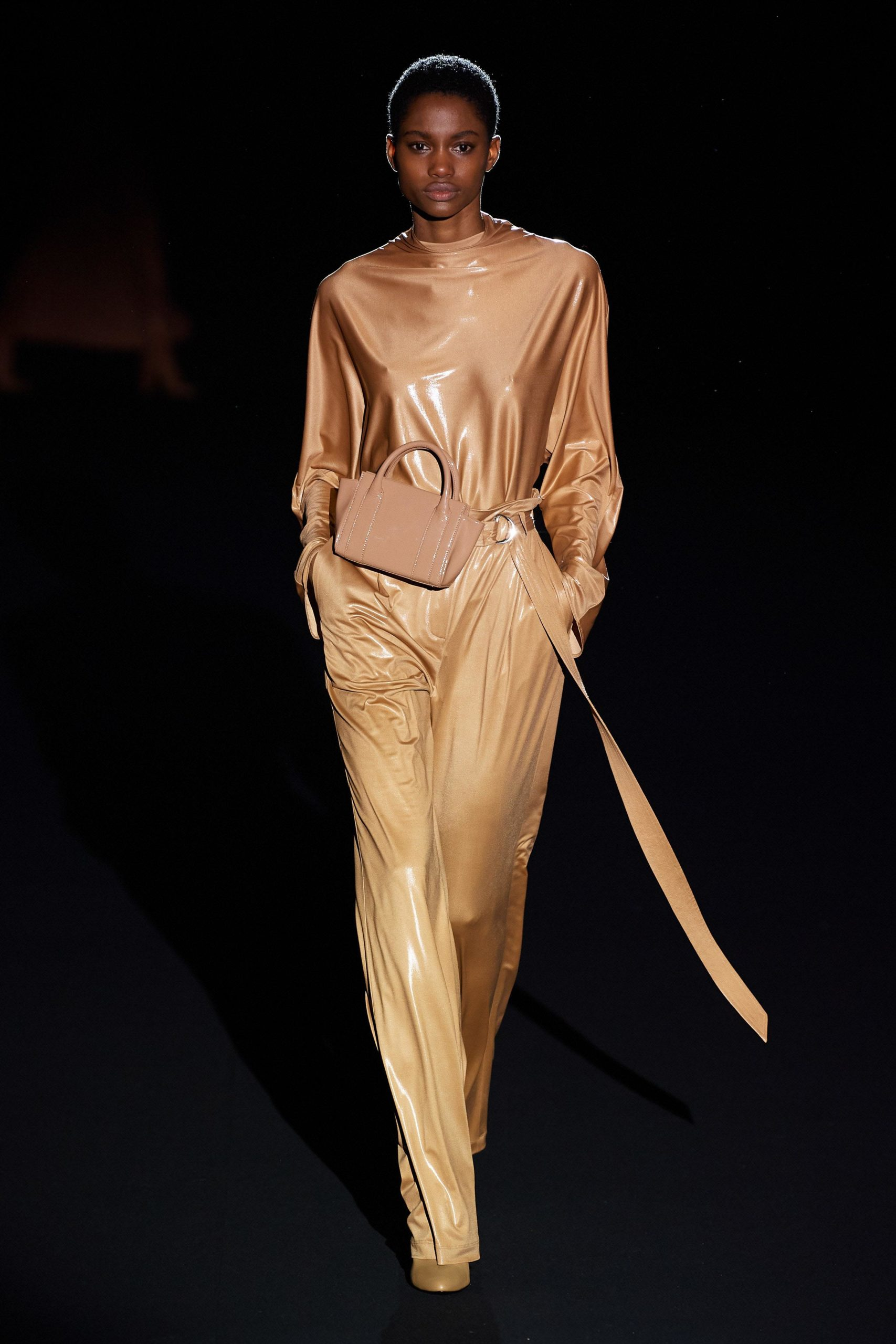 Sally Lapointe Fall 2020 trends runway coverage Ready To Wear Vogue beige luster luster glossy