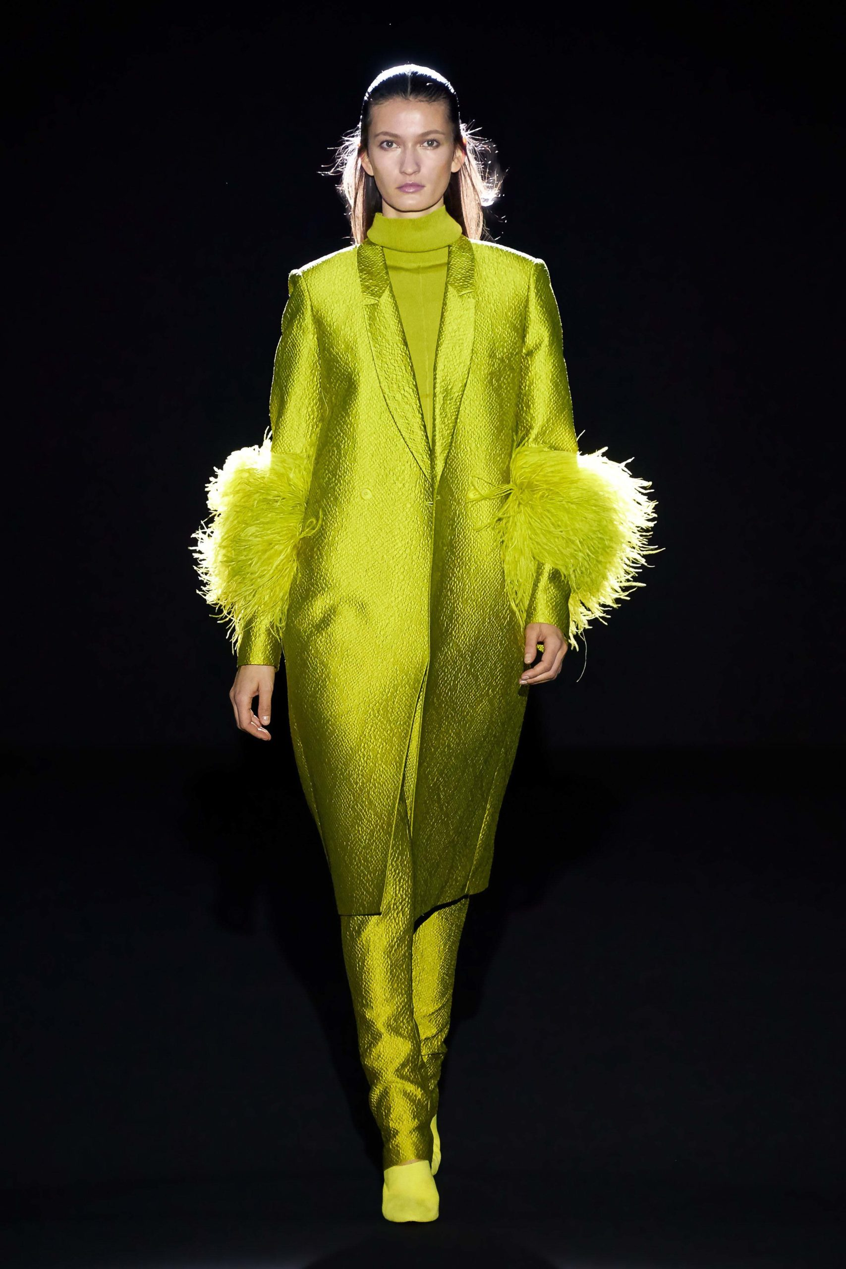 Sally Lapointe Fall 2020 trends runway coverage Ready To Wear Vogue feather