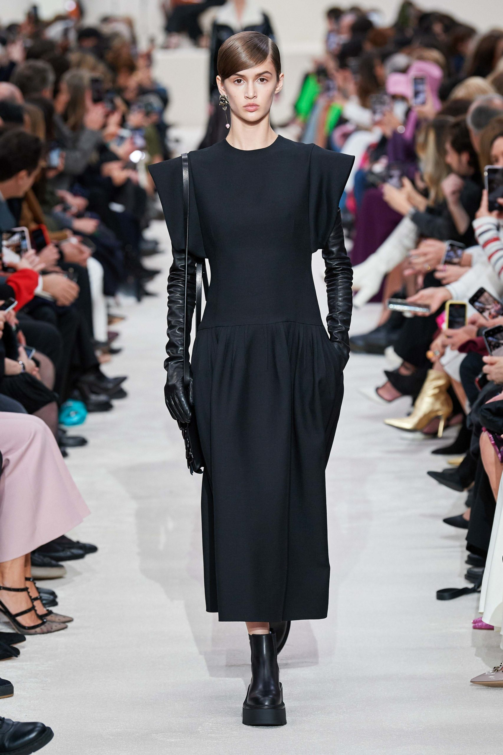 Valentino Fall 2020 trends runway coverage Ready To Wear Vogue gloves and shoulder bold sleeves