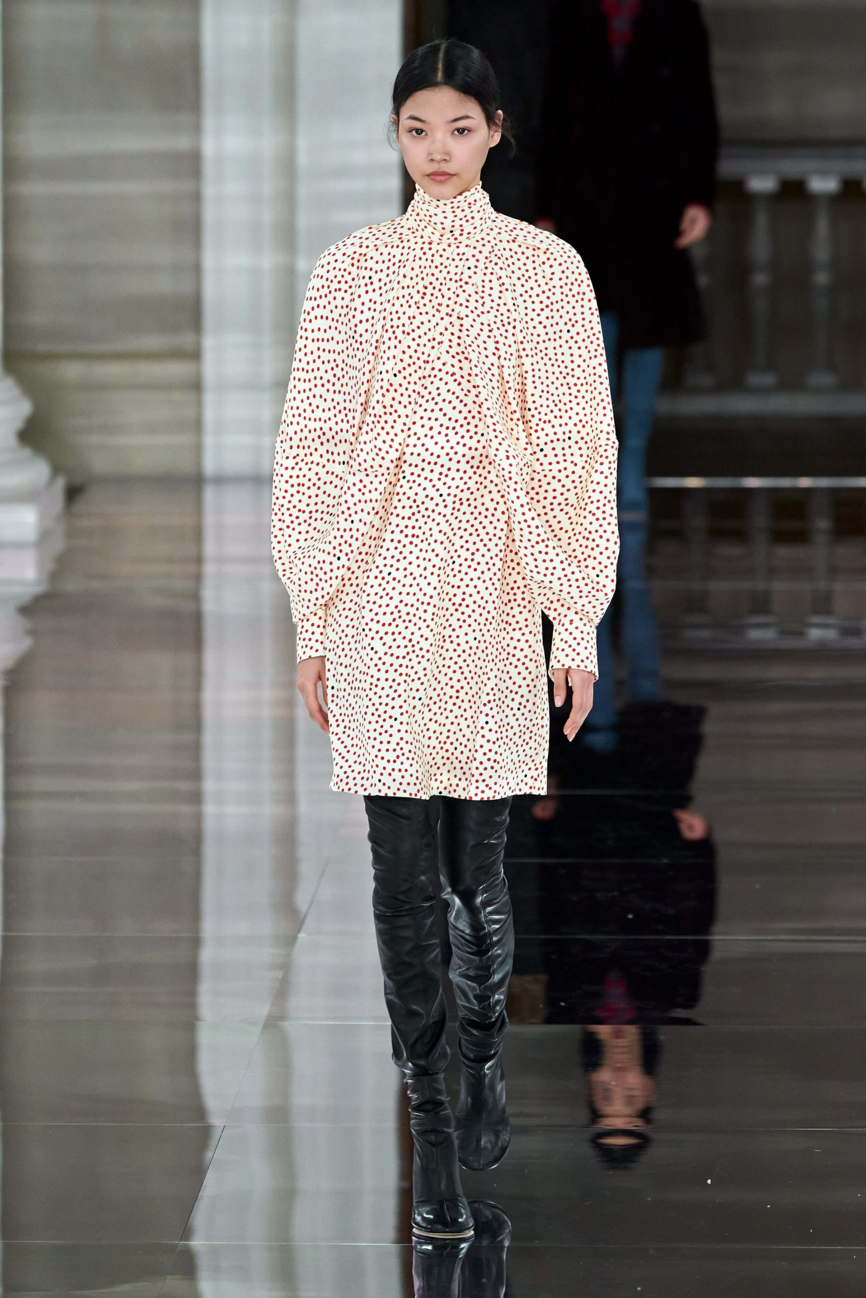 Victoria Beckham Fall 2020 trends runway coverage Ready To Wear Vogue Thigh High Boots