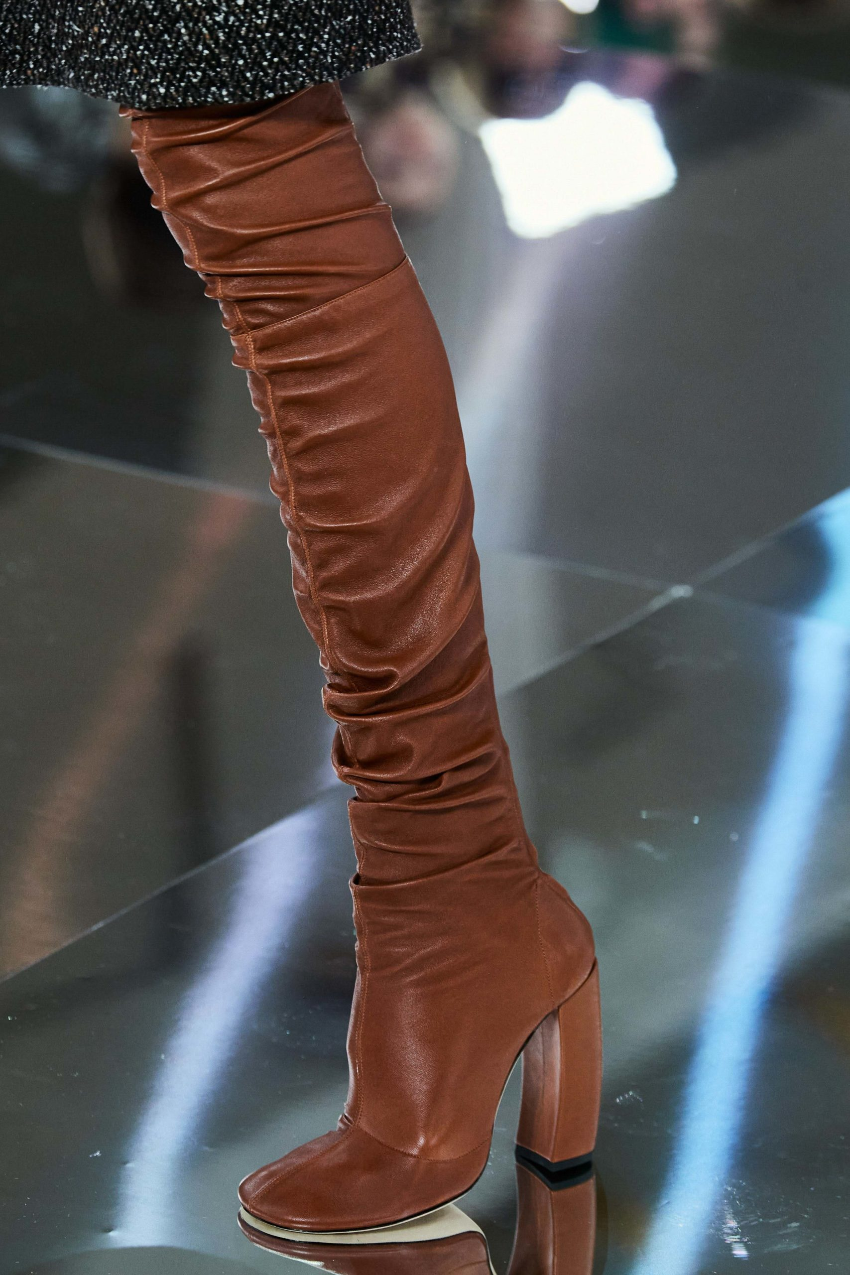 Victoria Beckham Fall 2020 trends runway coverage Ready To Wear Vogue otk socks boots