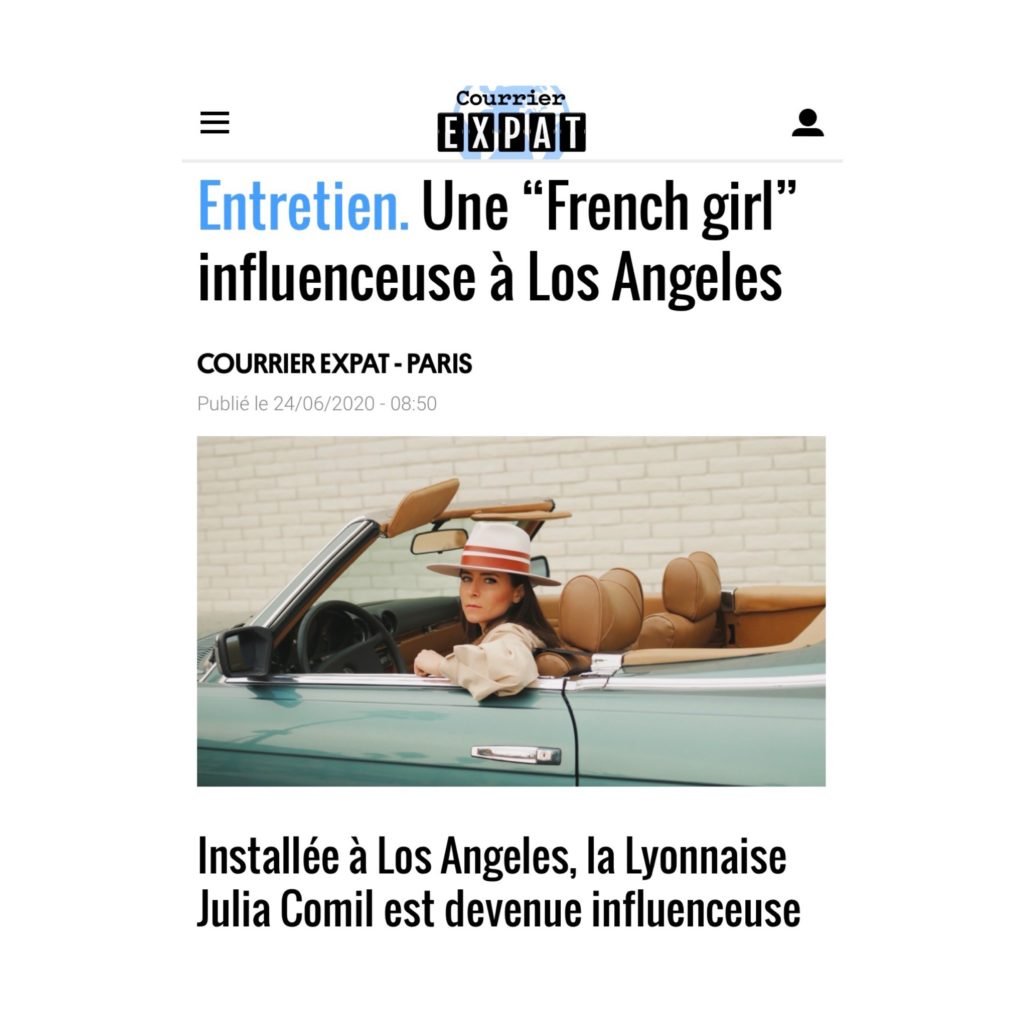 Courrier International Julia Comil French Girl Influencer in Los Angeles Courrier Expact