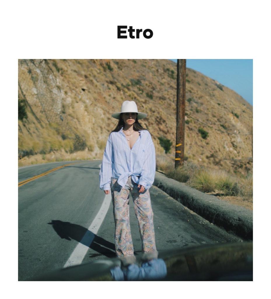 Etro digital campaign editorial julia comil