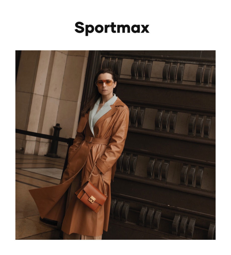 Sportmax digital campaign editorial julia comil