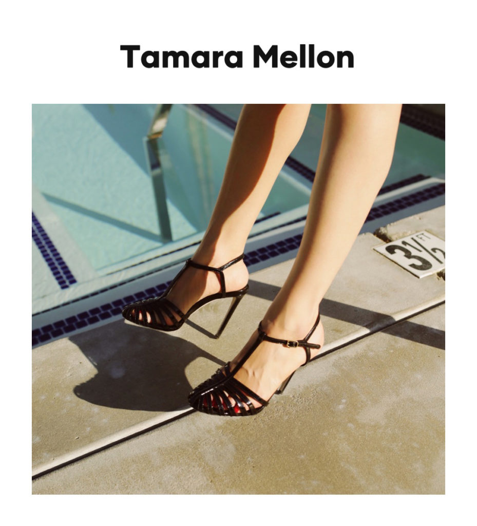 Tamara Mellon digital campaign editorial julia comil