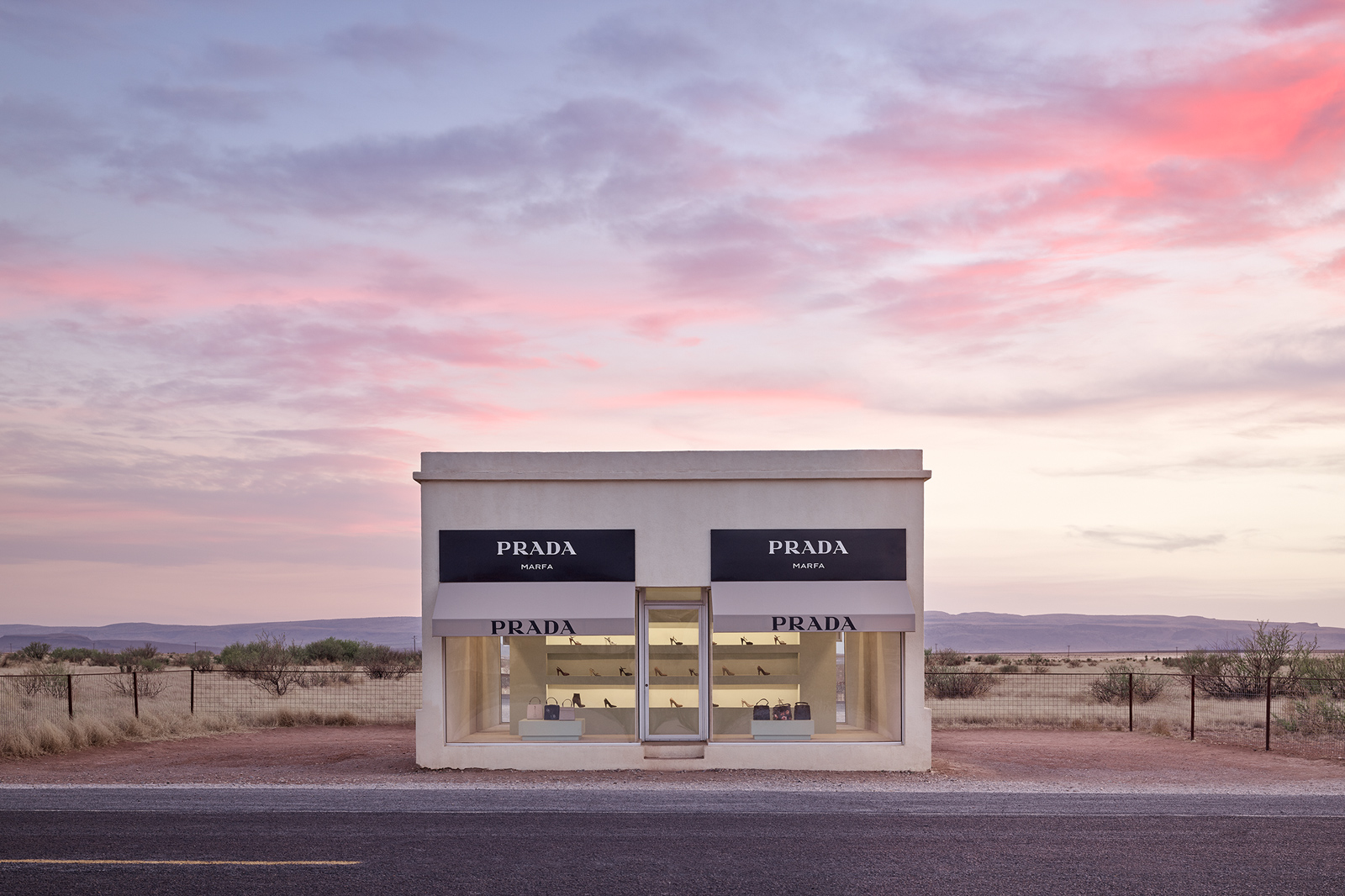 prada marfa Lumas gallery review discount code coupon code