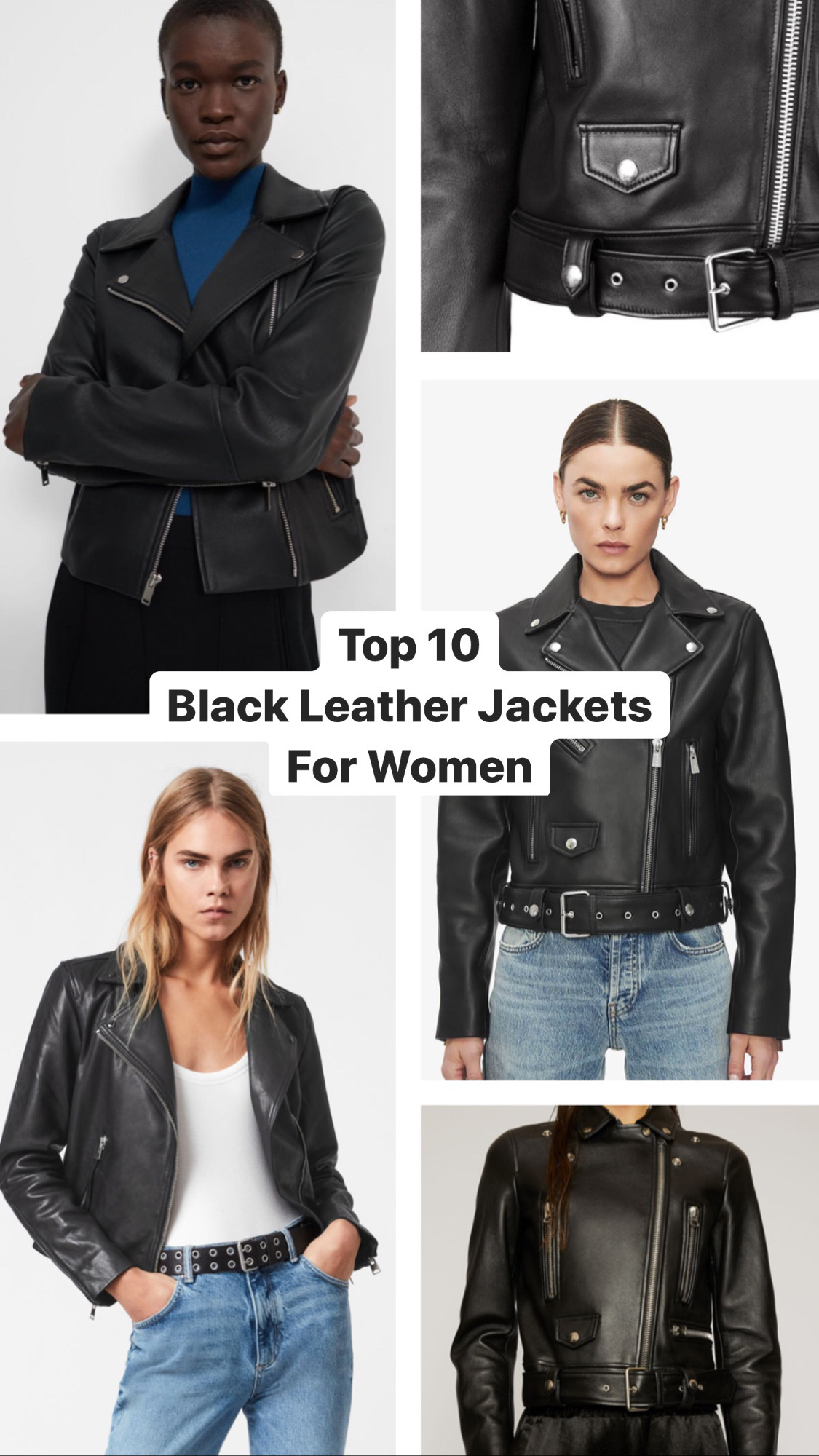 Parisian style Top 10 Black Leather Jackets For Women