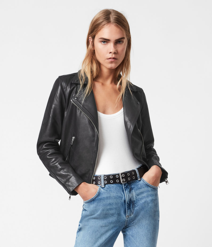 The perfect black leather jacket for women The leather biker jacket is a French staple: timeless and effortless chic! Selection of the best premium leather jackets at an affordable price - All Saints