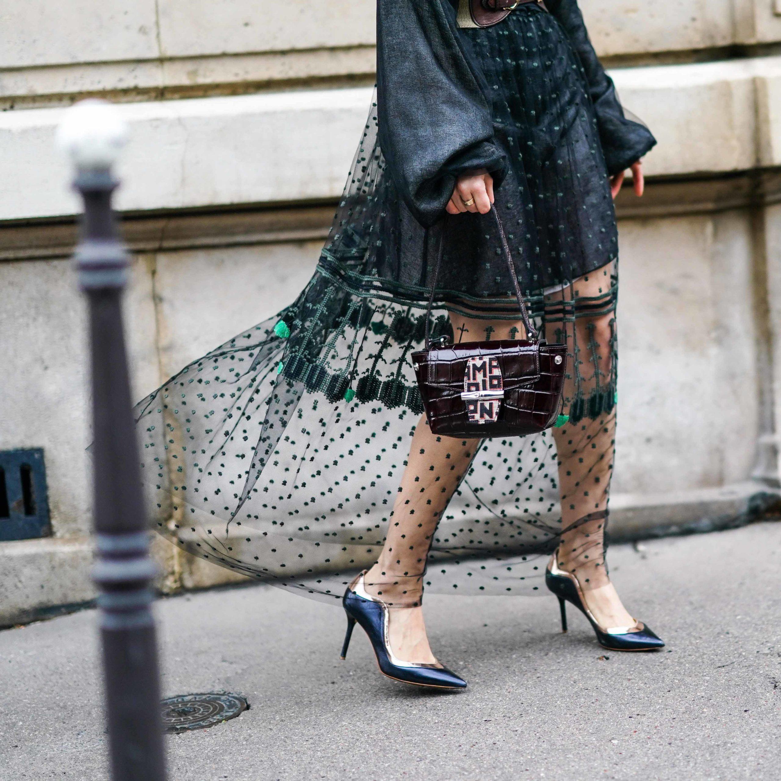 Holiday dress 2020 lace dress longchamp bag longchamp pumps malone souliers